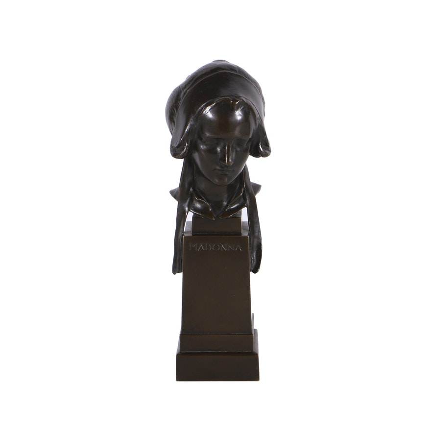 "George James Frampton Bronze ""Madonna"" Sculpture"