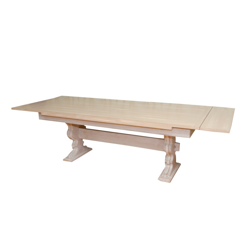 Country Style Trestle Dining Table