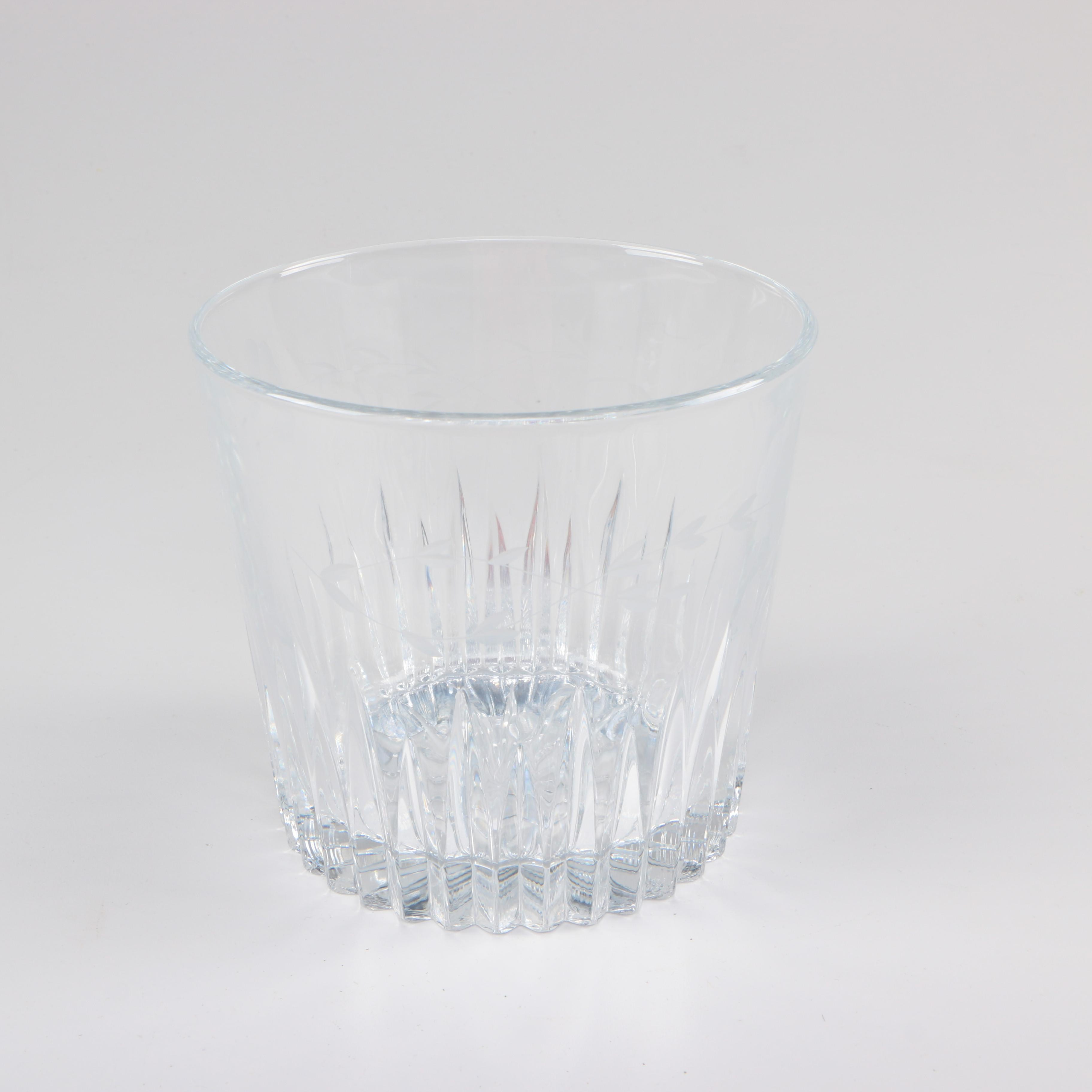 Crystal Bowl With Etched Designs
