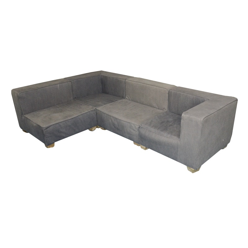 Contemporary Upholstered Sectional Sofa by Pottery Barn Kids