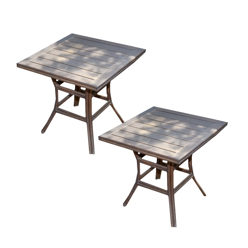 Square Outdoor Patio Side Tables