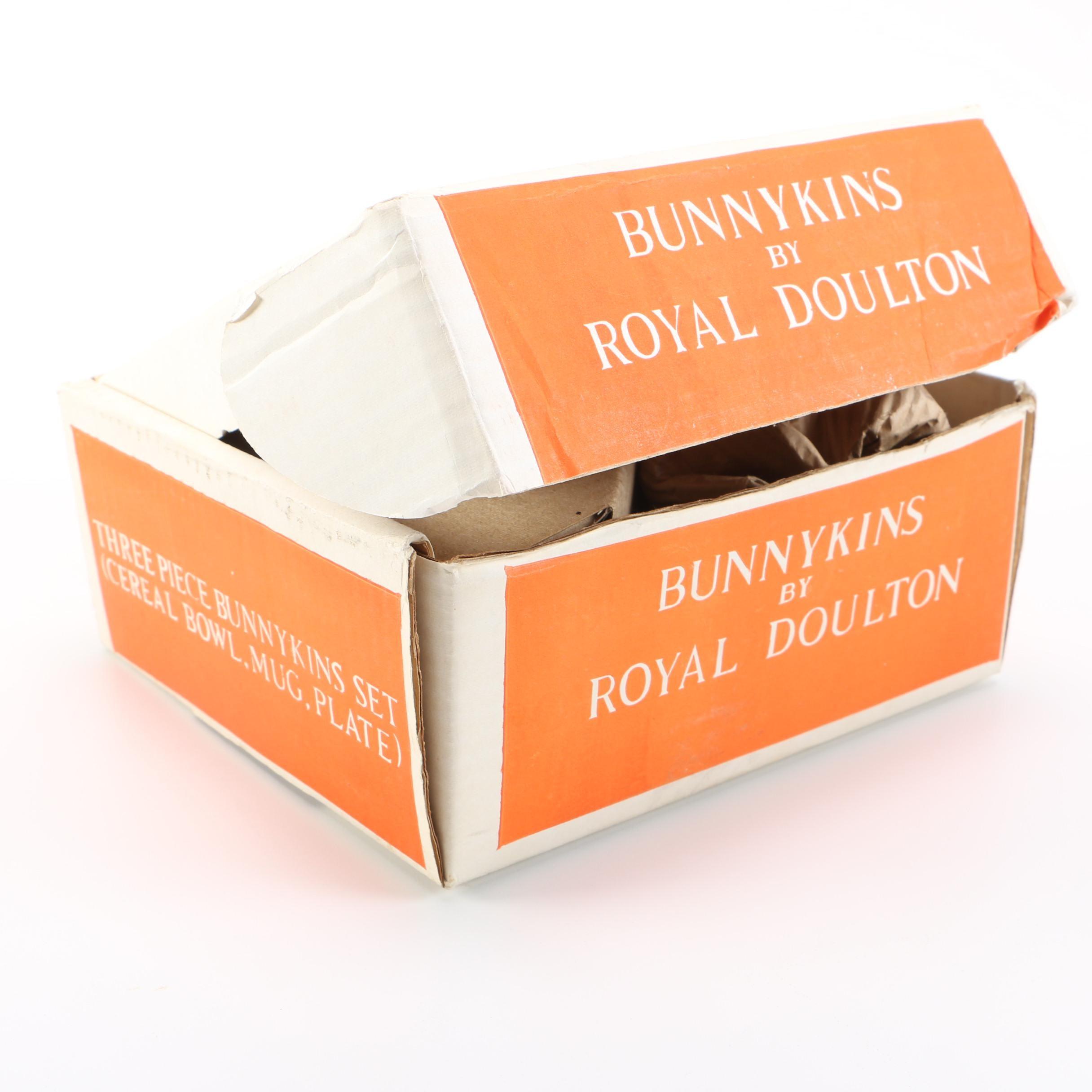 """Royal Doulton """"Bunnykins"""" Mug, Plate and Bowl Set"""