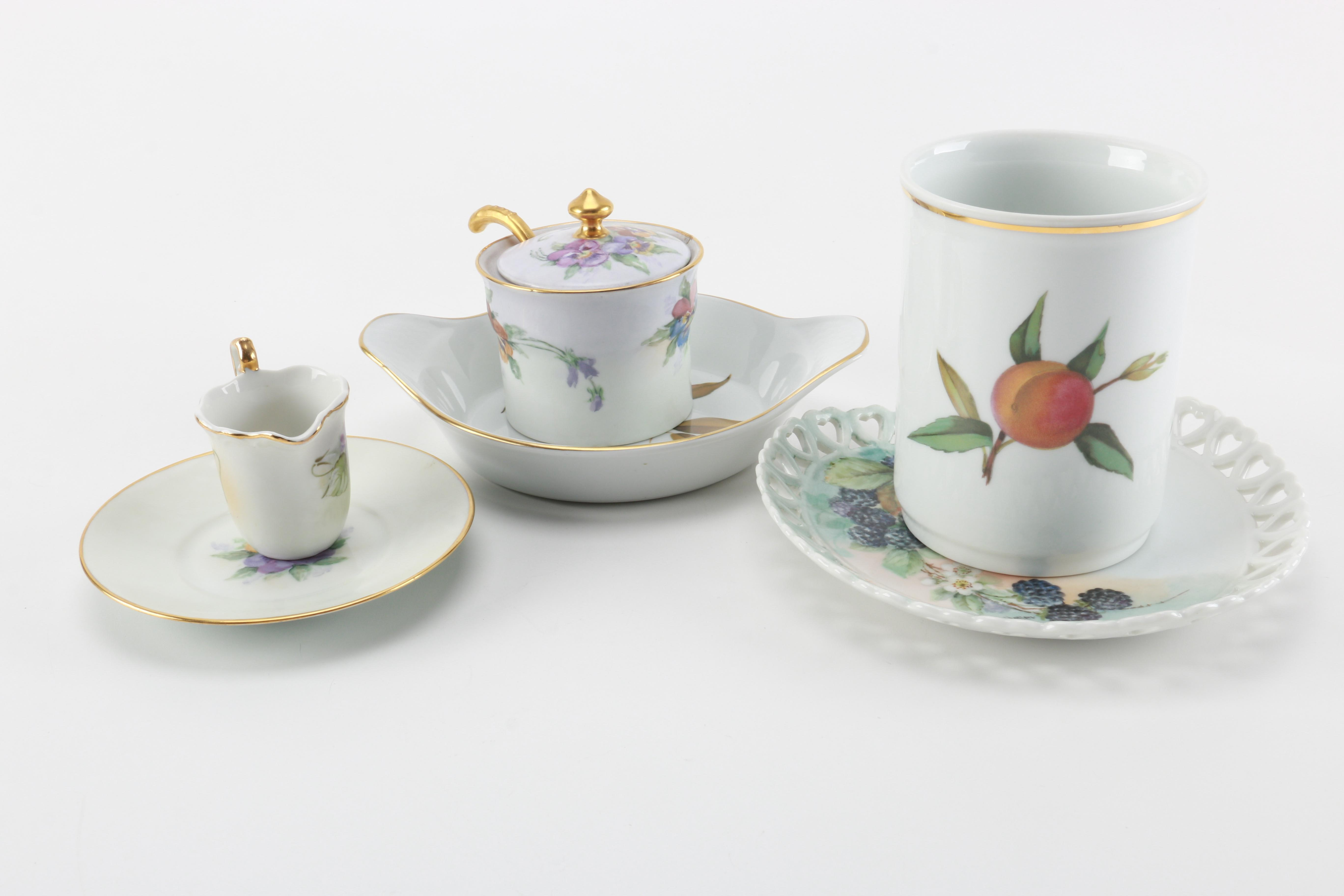 Porcelain Tableware Featuring Royal Worcester