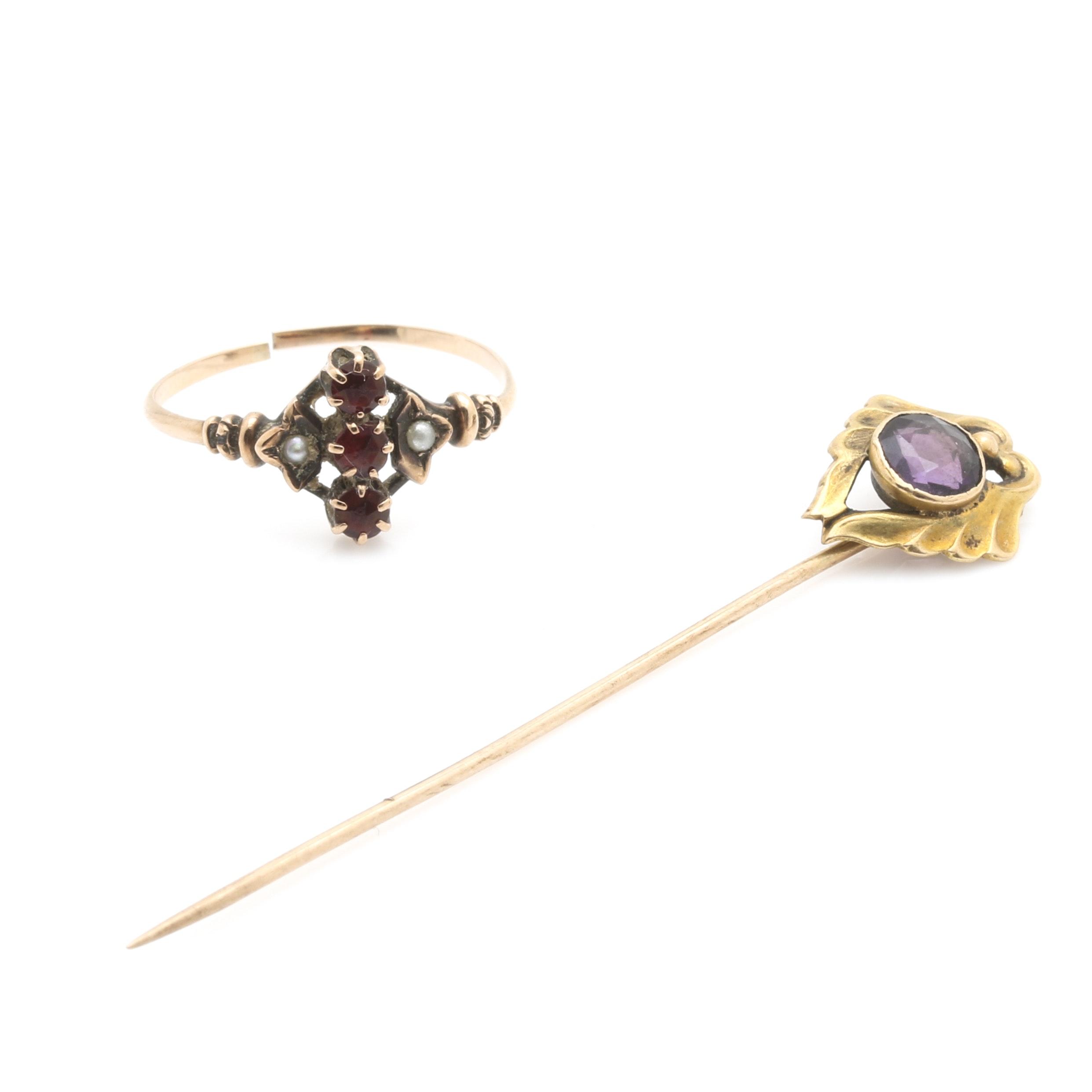 10K Yellow Gold Gemstone Jewelry Selection