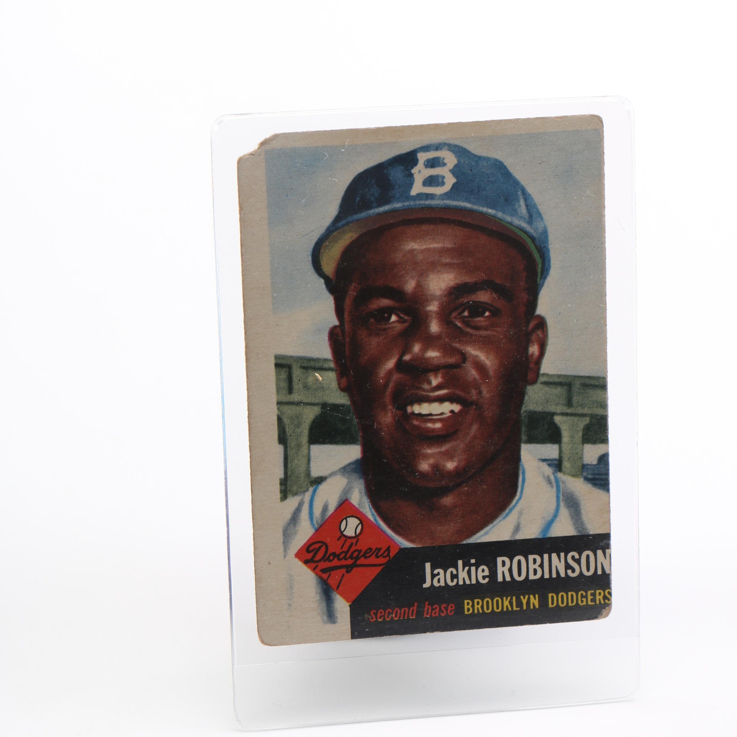 1953 Topps Jackie Robinson Card