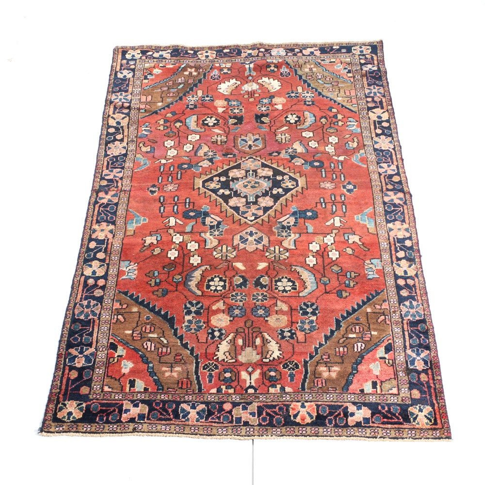 Semi-Antique Handwoven Persian Viss Heriz Rug