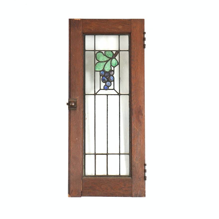 Antique Stained Glass Door Antique Furniture
