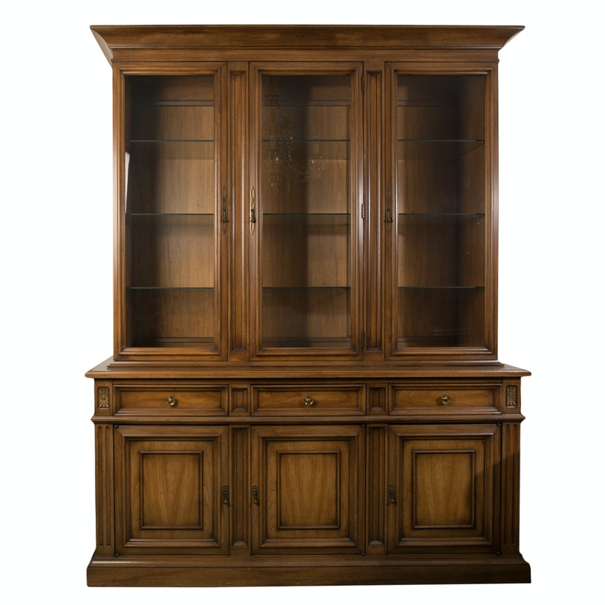 Furniture Corp: White Furniture Company Breakfront China Cabinet : EBTH