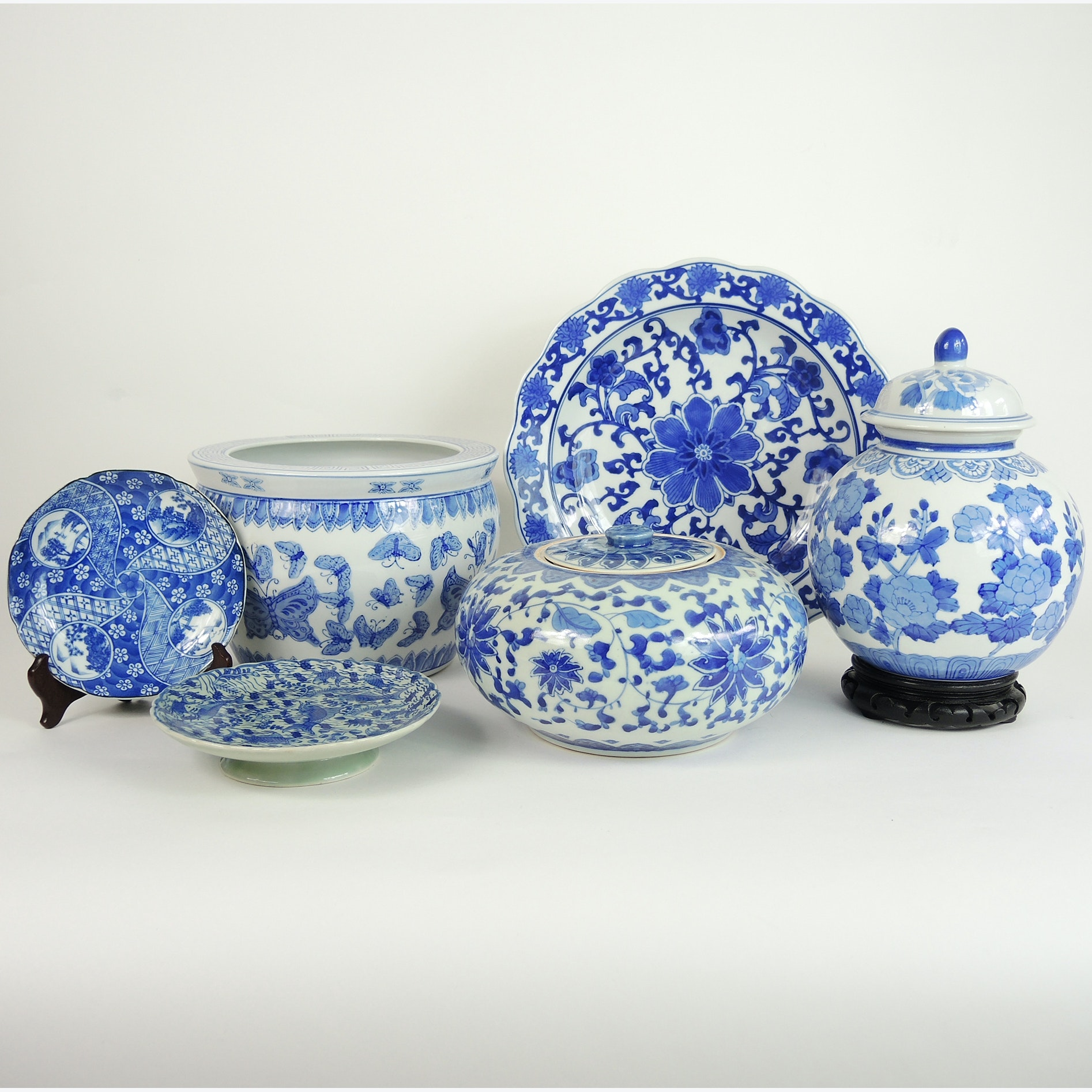 Blue and White East Asian Ceramics