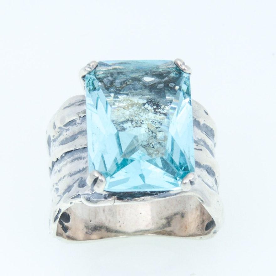 silpada sterling silver natural blue topaz ring ebth. Black Bedroom Furniture Sets. Home Design Ideas