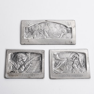 Set of Miniature Israeli Plaques