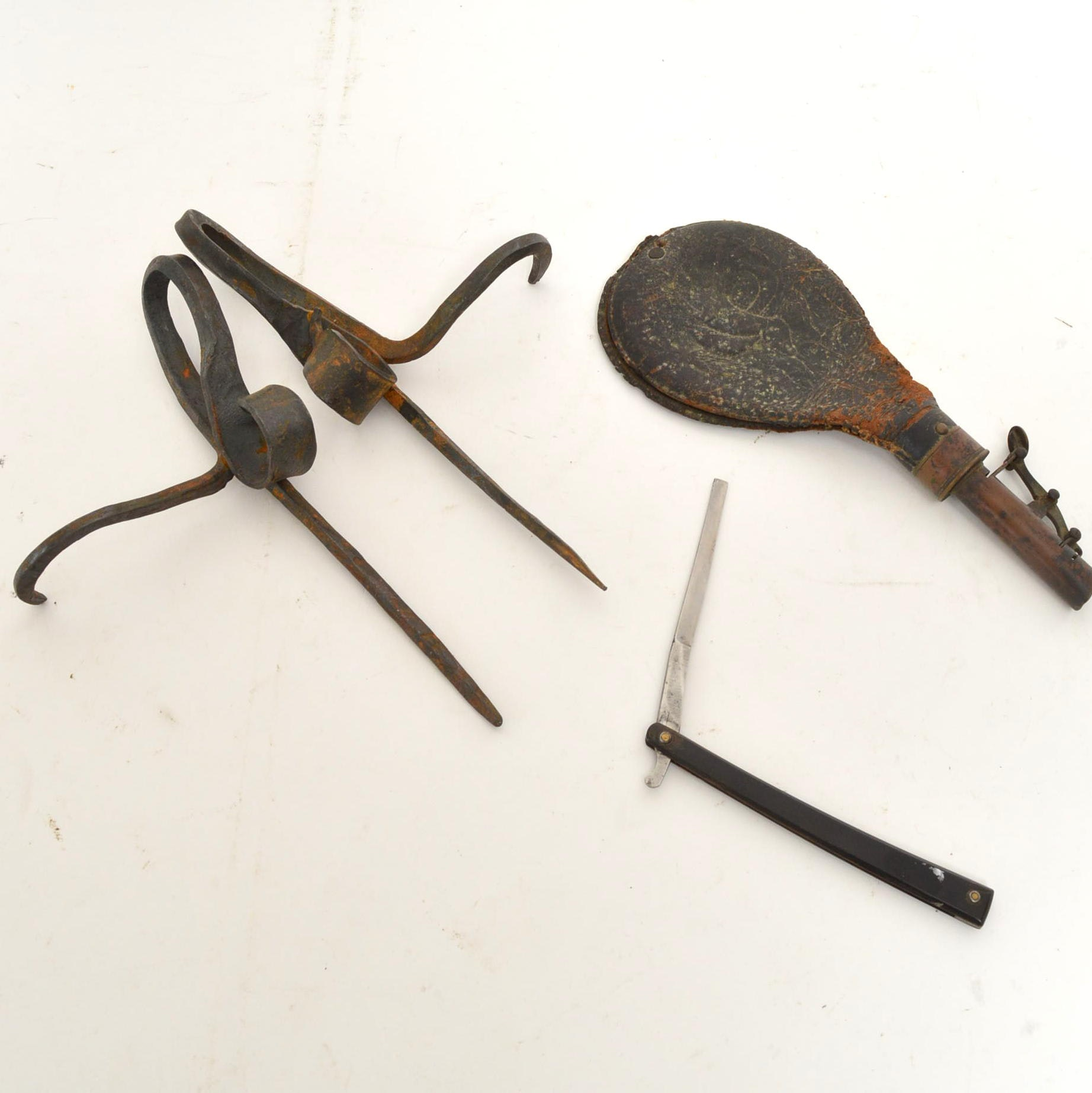 Miner's Candle Holders and Tools