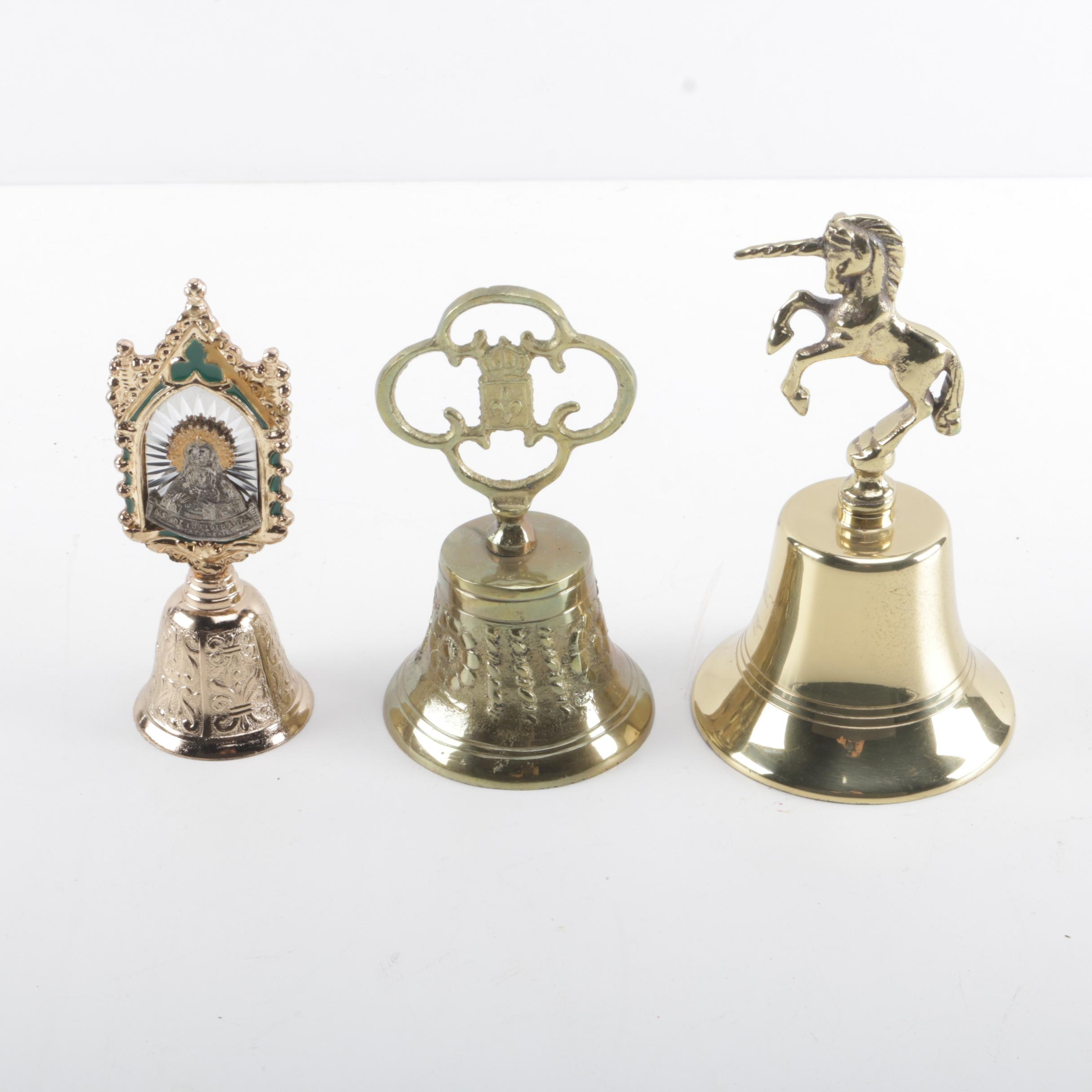 Collection of Decorative Brass Bells