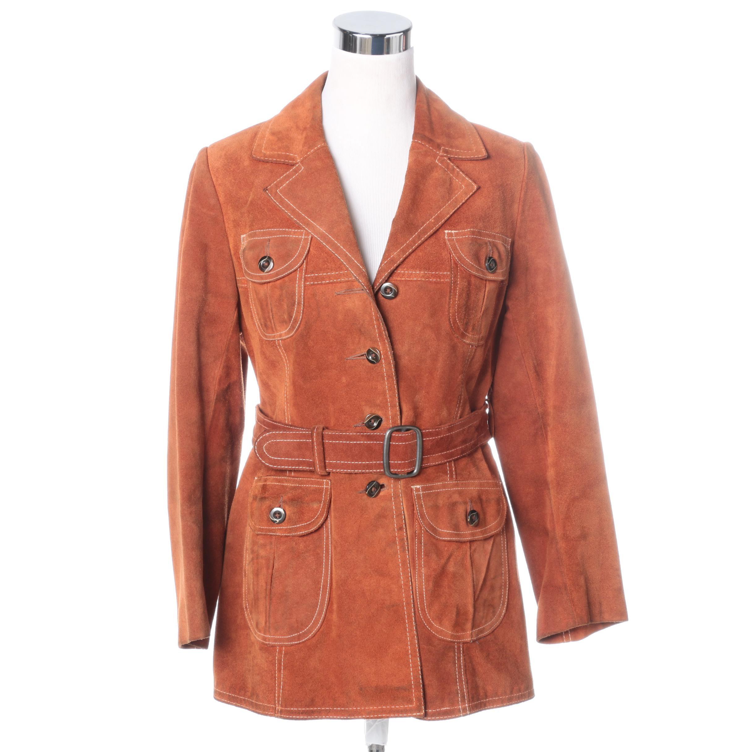 Vintage Young Dimensions Burnt Orange Suede Jacket