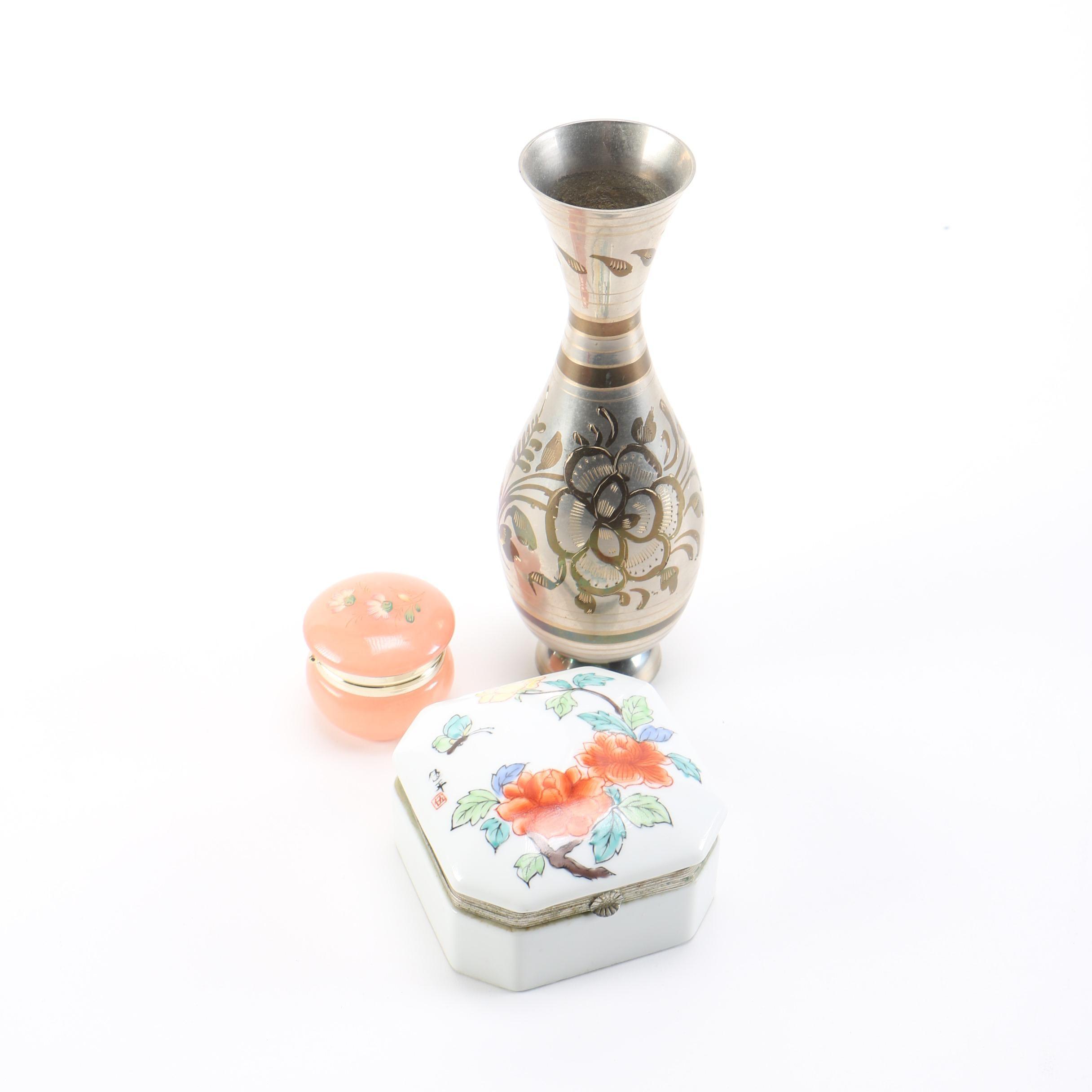 Trinket Boxes and a Vase