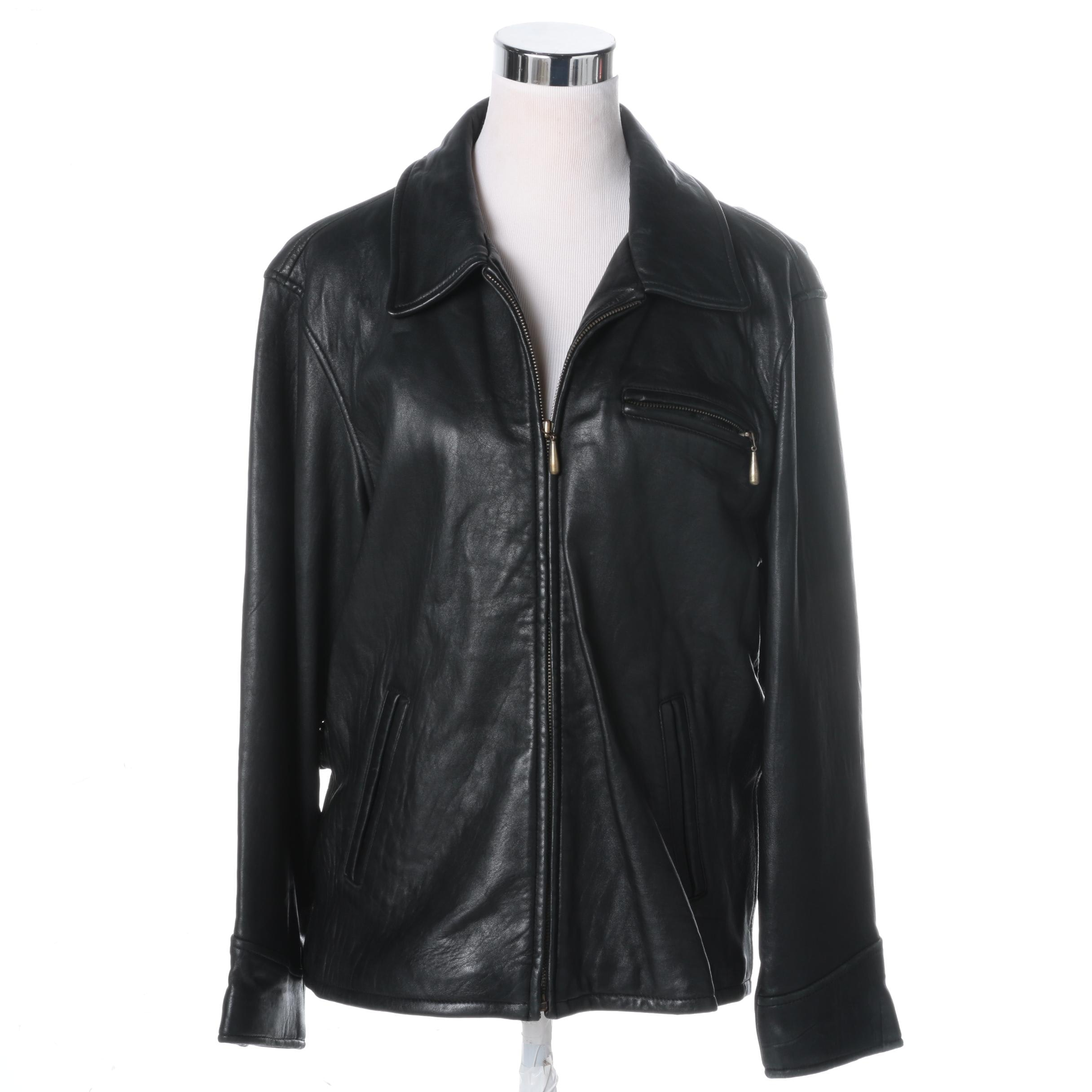 Jacqueline Ferrar Black Leather Jacket