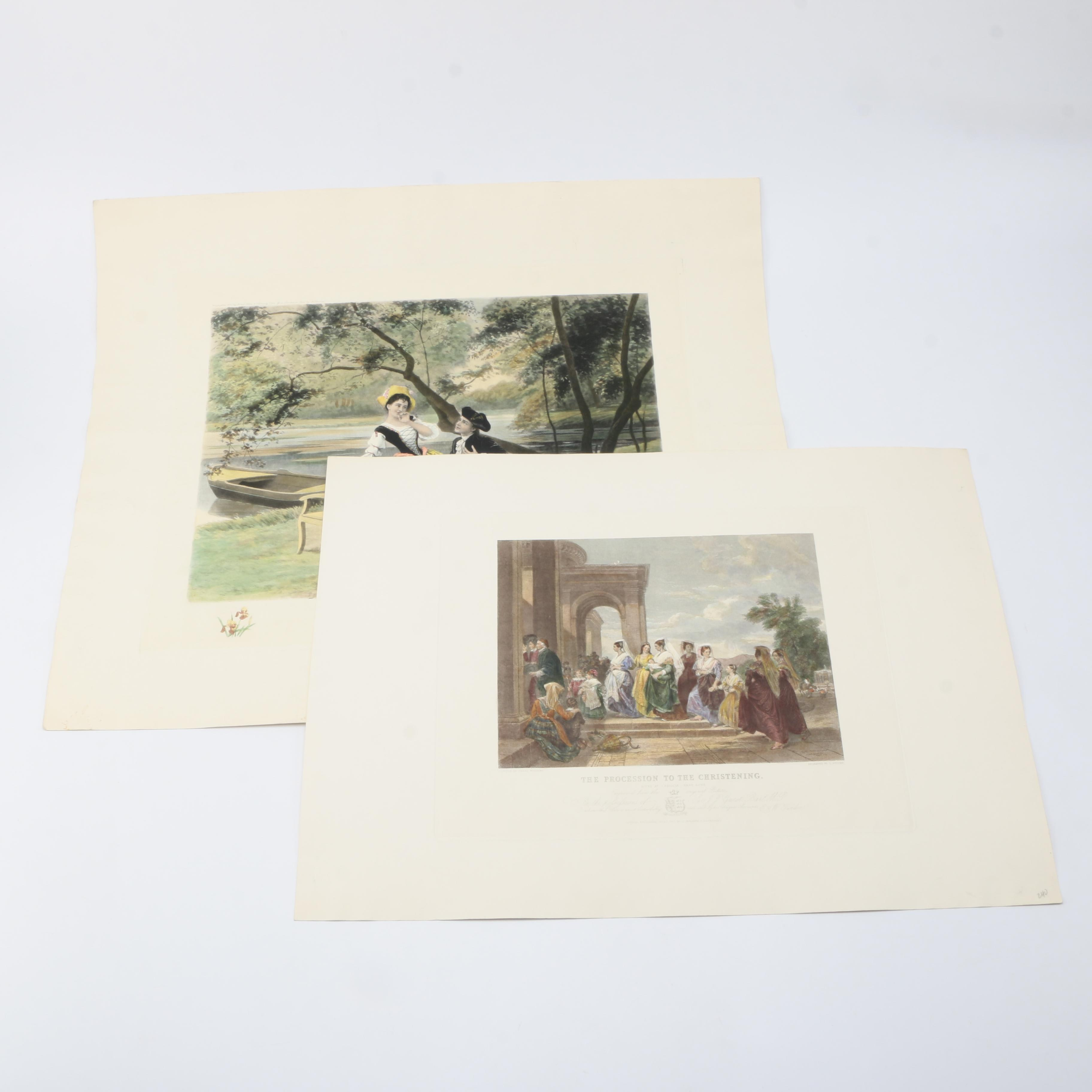 Hand-Colored Etchings of Aristocratic Life
