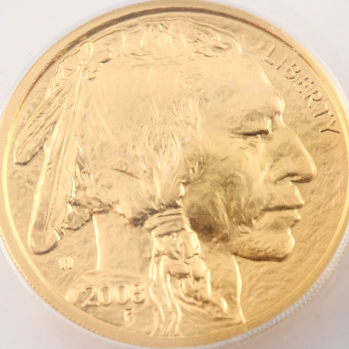 Graded SP70 (By ANACS) 2008 W $10 Gold American Buffalo Proof Coin