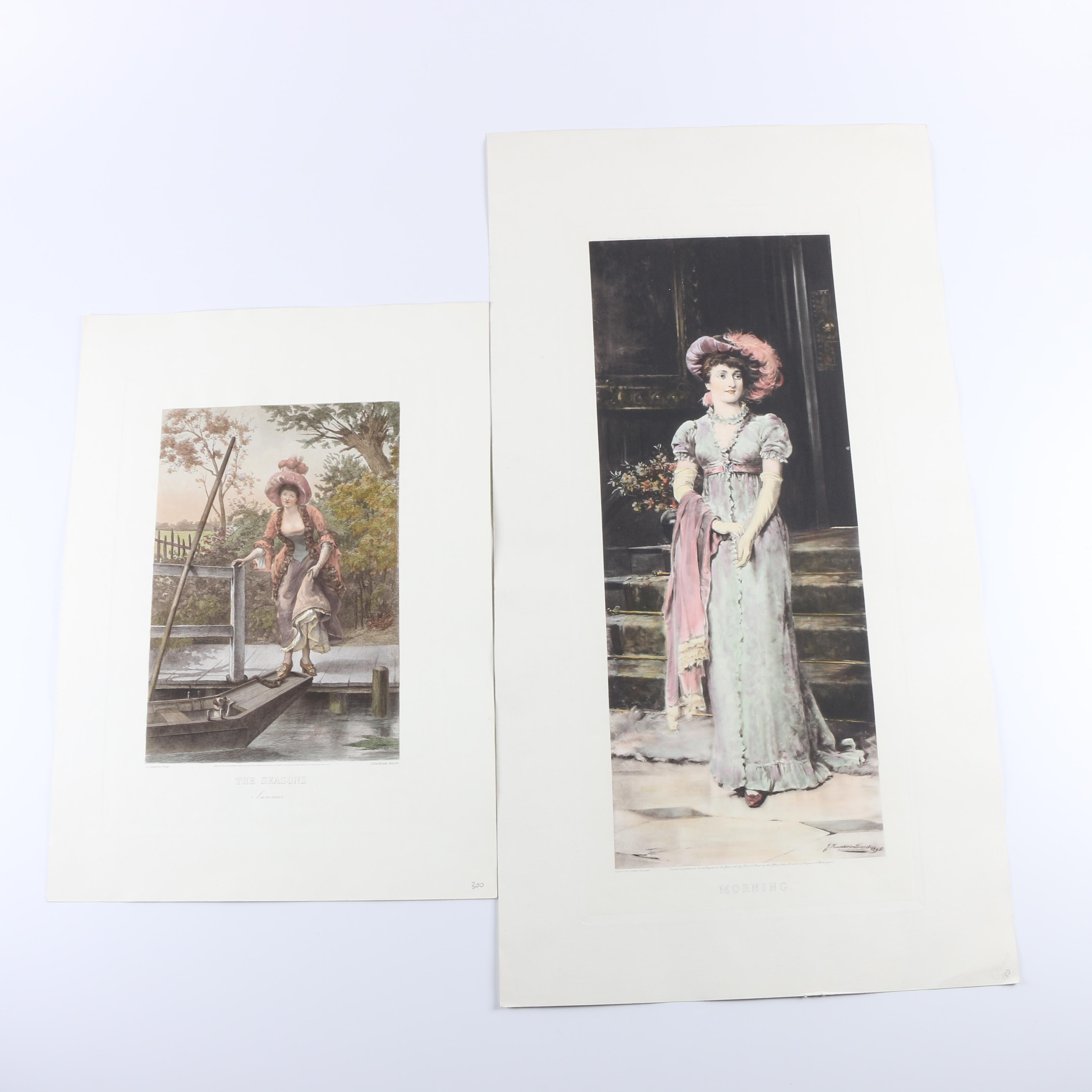 Hand-Colored Engraved Prints