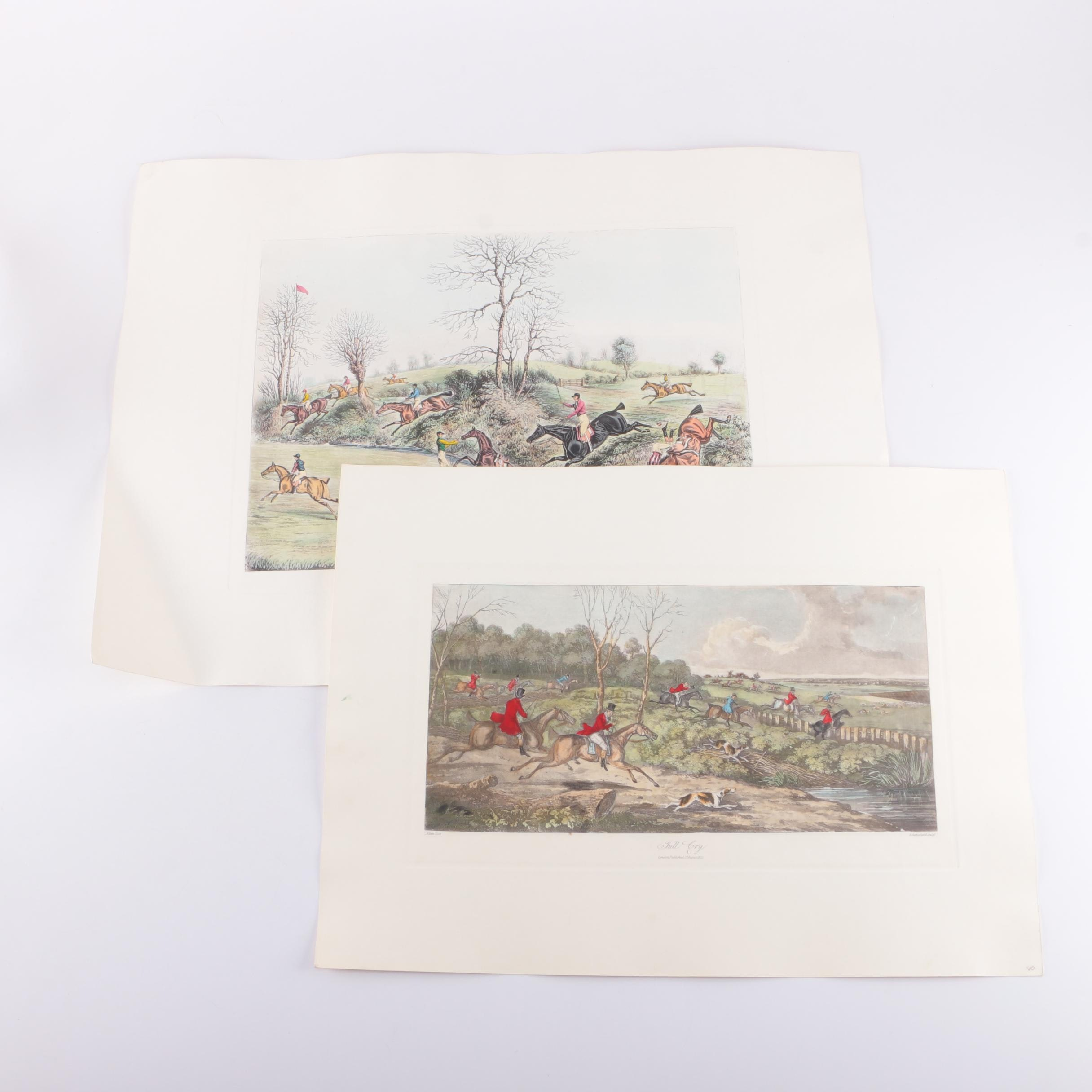 Hand-Colored Engravings After Original Hunting Scenes