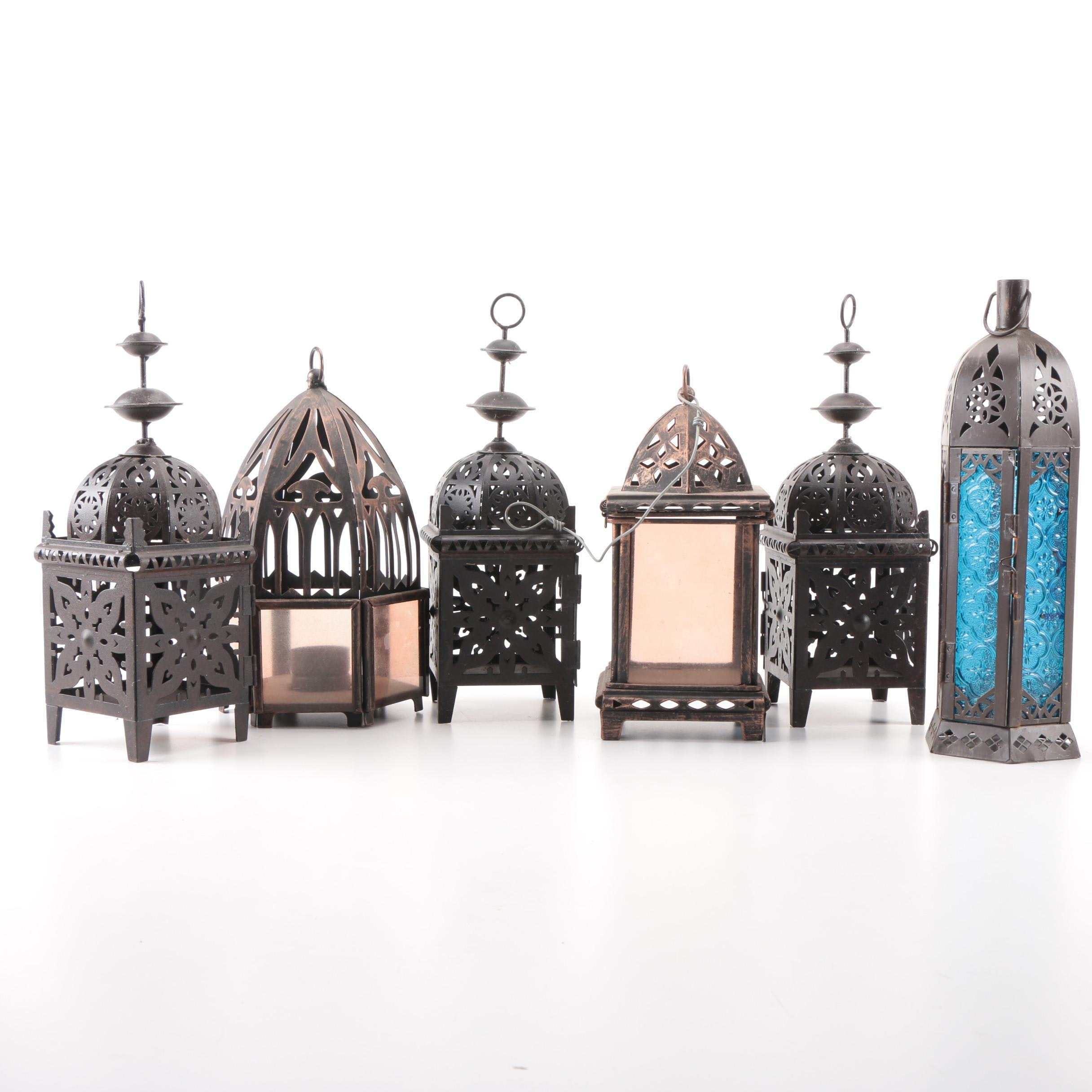 Decorative Metal Frame Lanterns