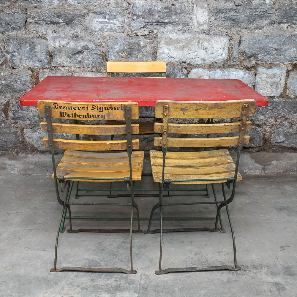 Vintage European Patio Cafe Table and Chairs EBTH