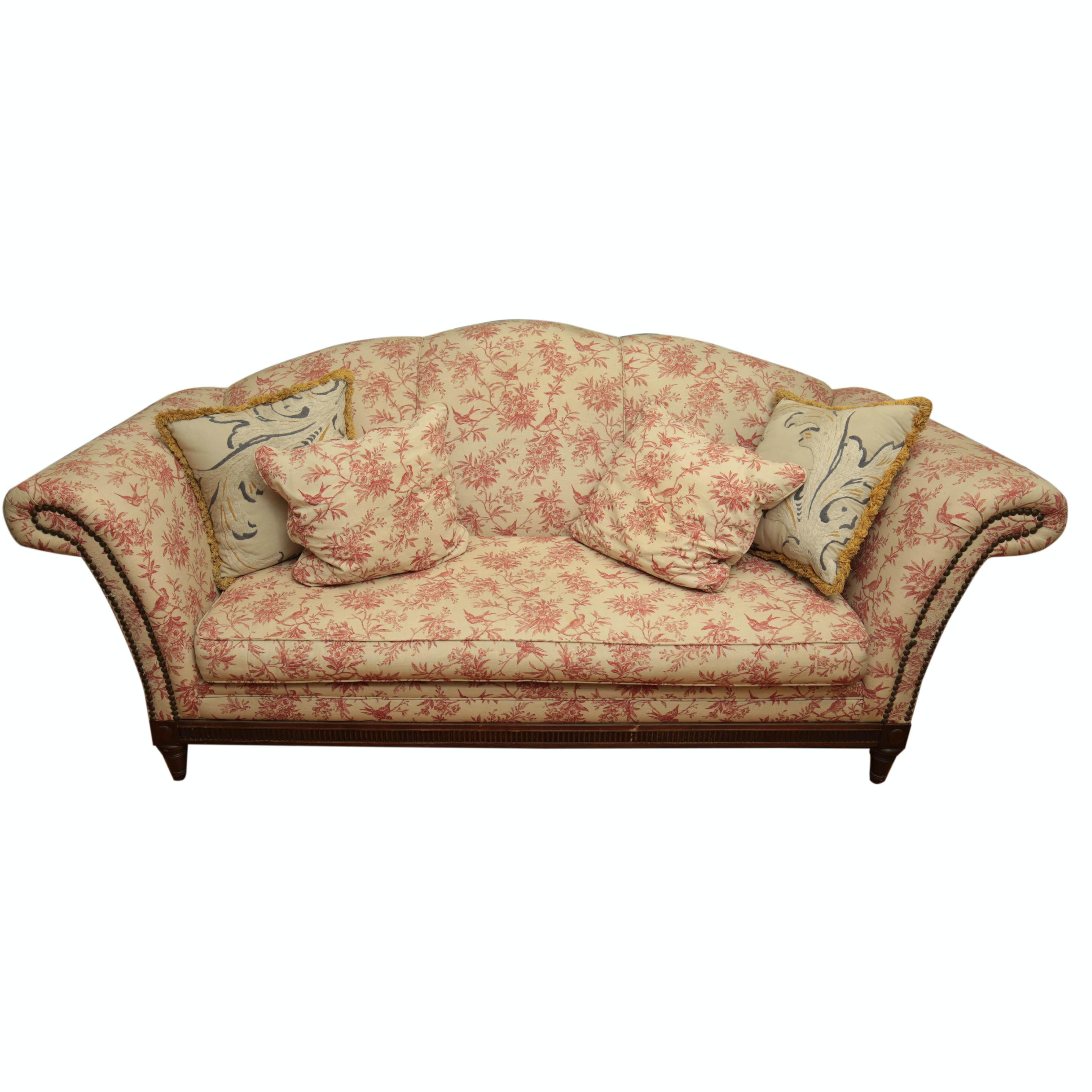 Bird Toile Upholstered Sofa By Plunkett Furniture ...