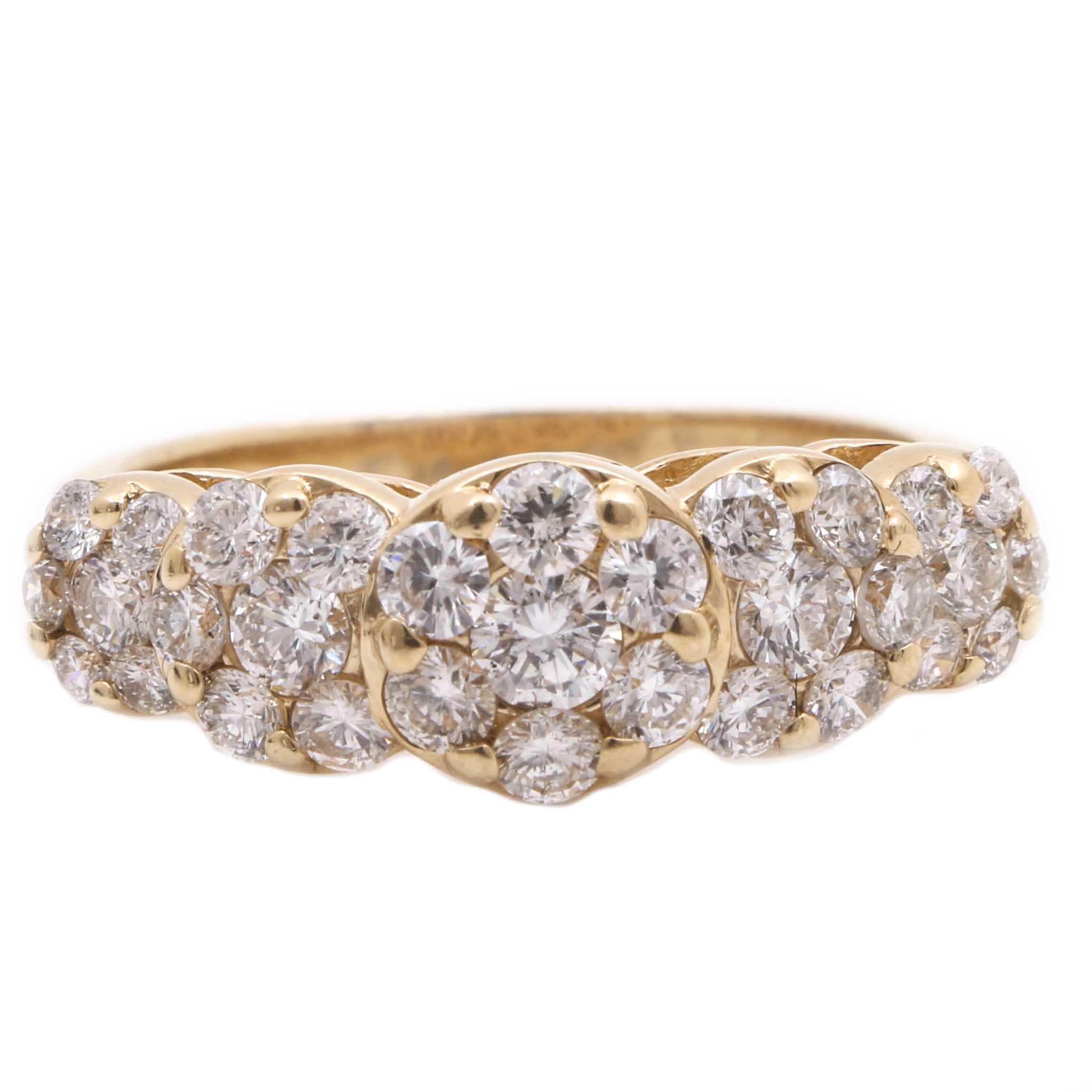14K Yellow Gold 1.41 CTW Diamond Ring