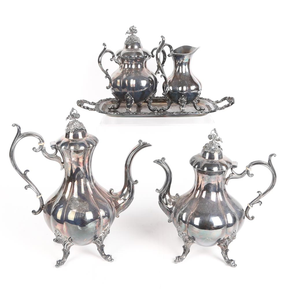 Silver-Plated Tea and Coffee Service Featuring Reed & Barton