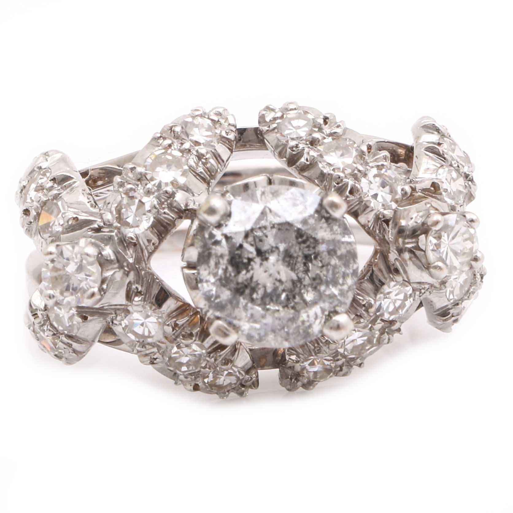18K White Gold 2.35 CTW Diamond Ring