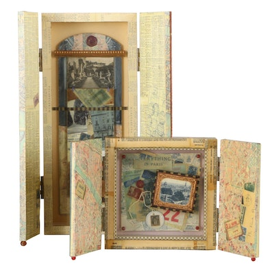 Graceann Warn Assemblage Boxes for Florence and Paris
