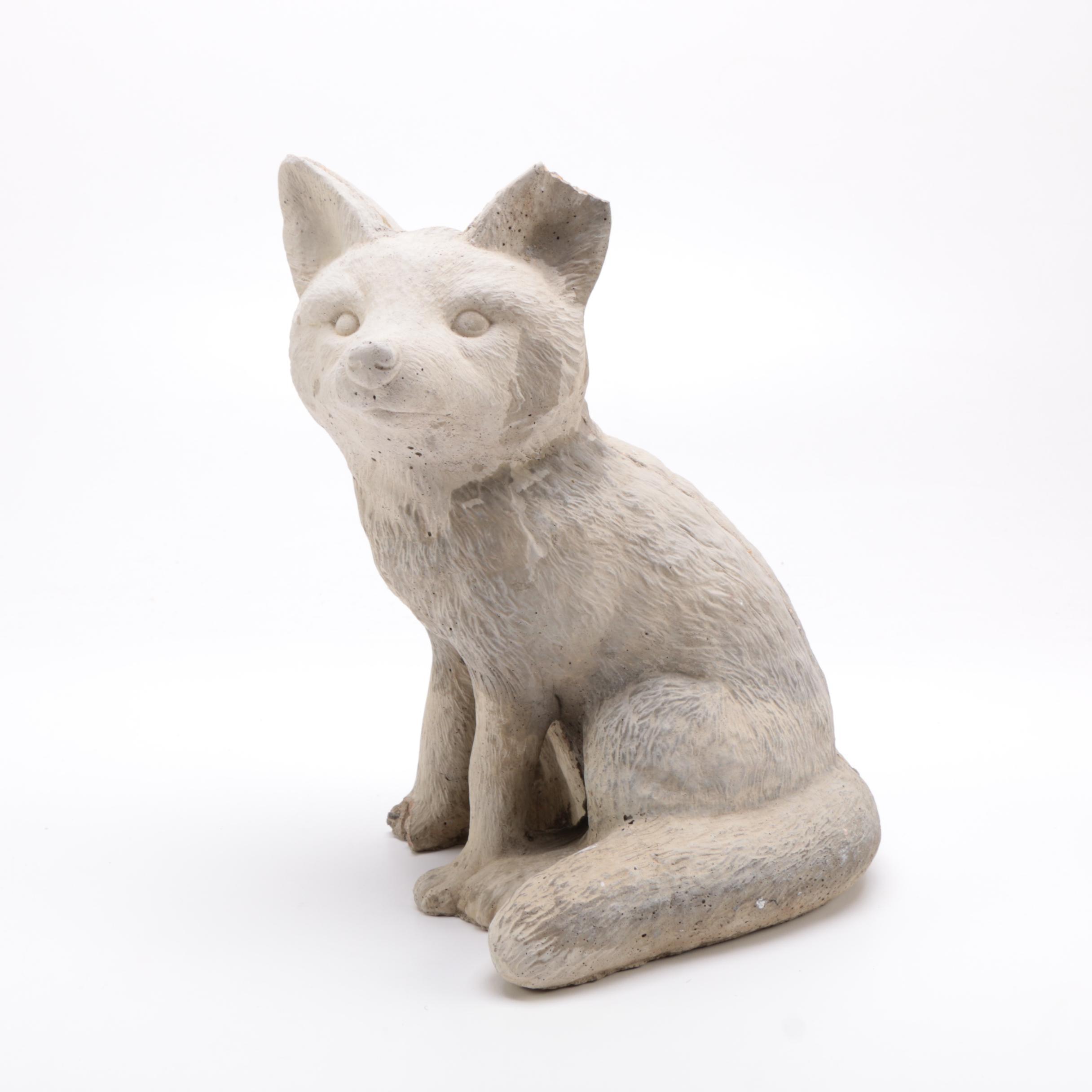 Concrete Fox Garden Statue ...