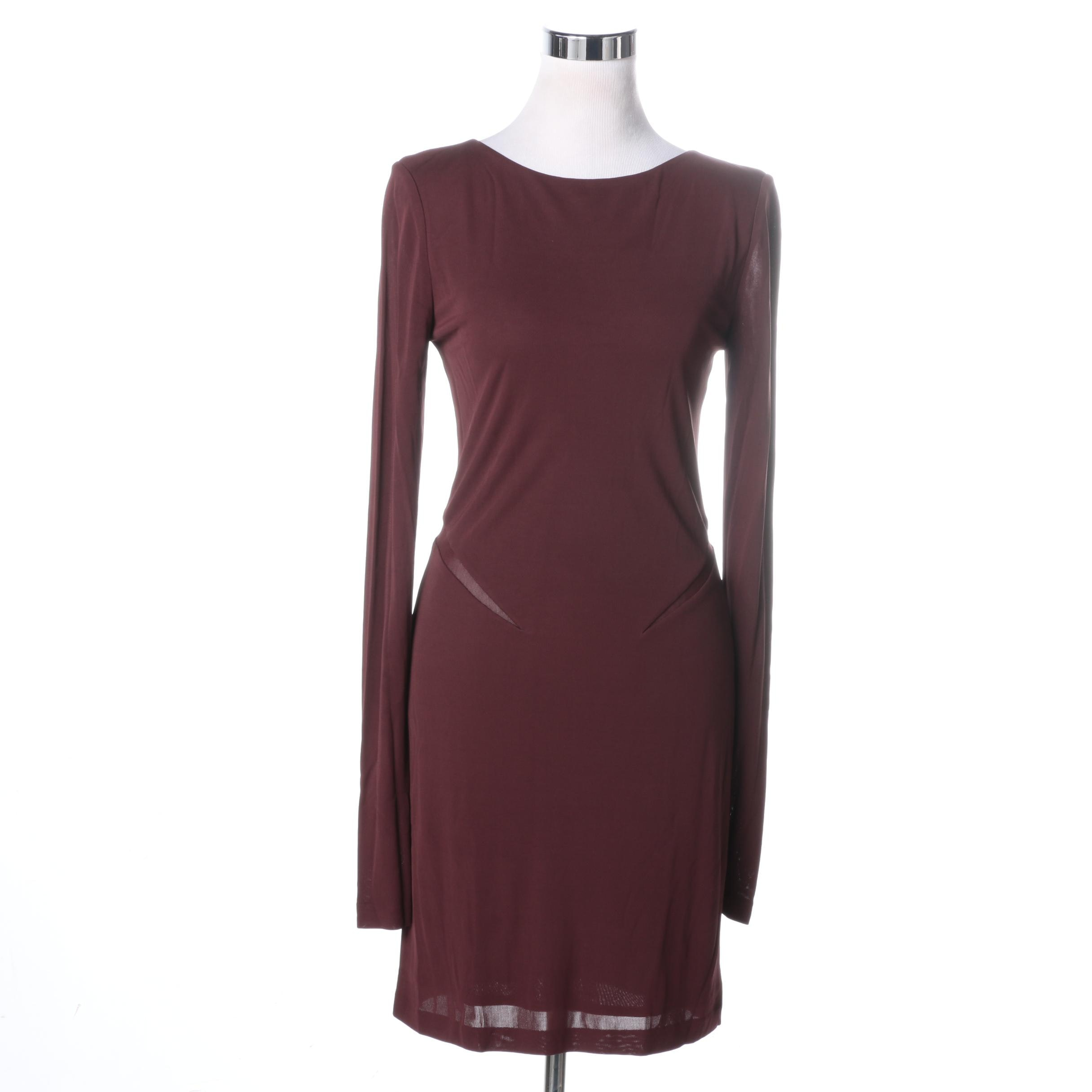 T by Alexander Wang Burgundy Dress