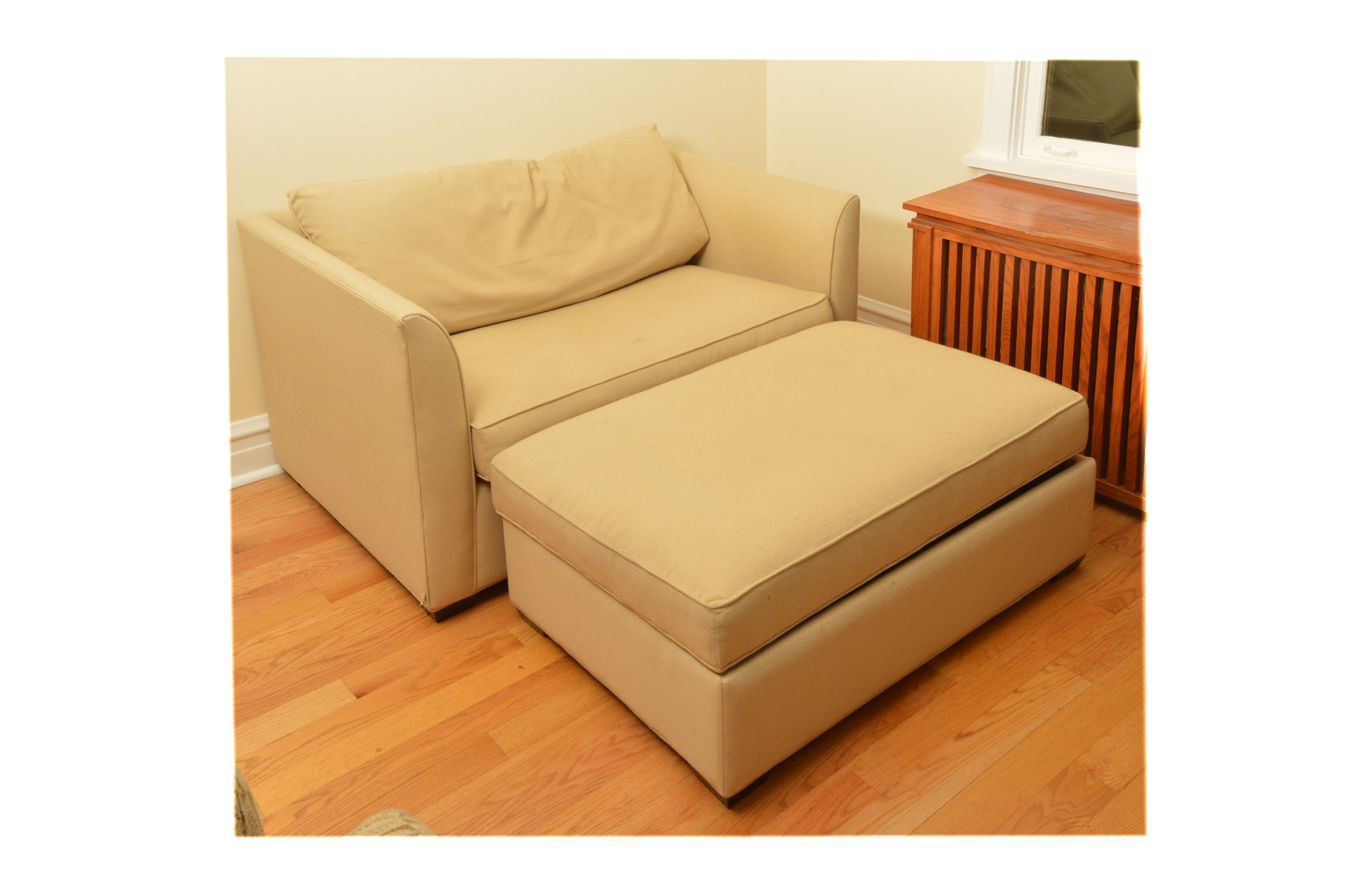 """""""Claremont"""" Oversized Chair With Ottoman by Room & Board"""