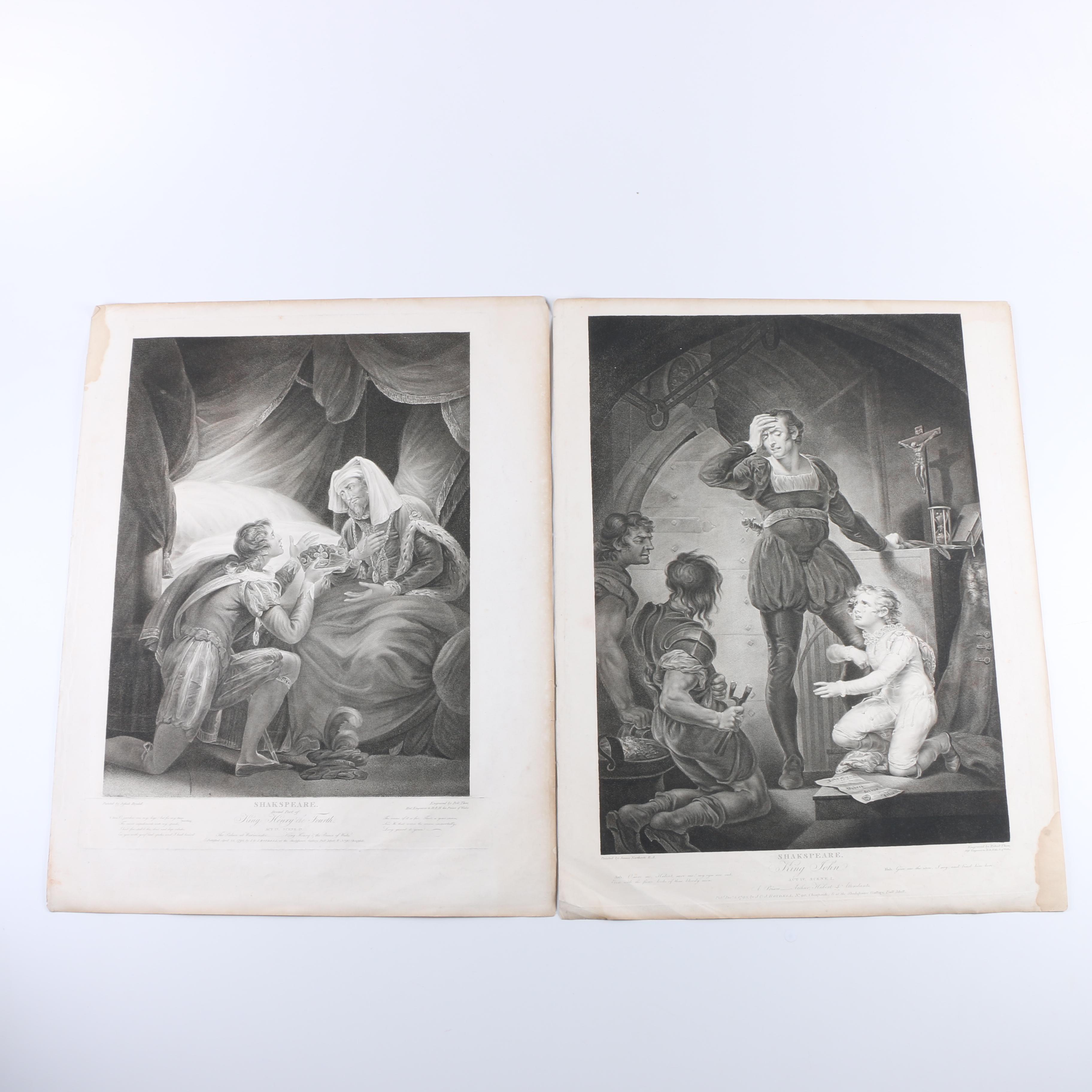 """Robert Thew Engravings After """"Shakspeare"""" Paintings"""