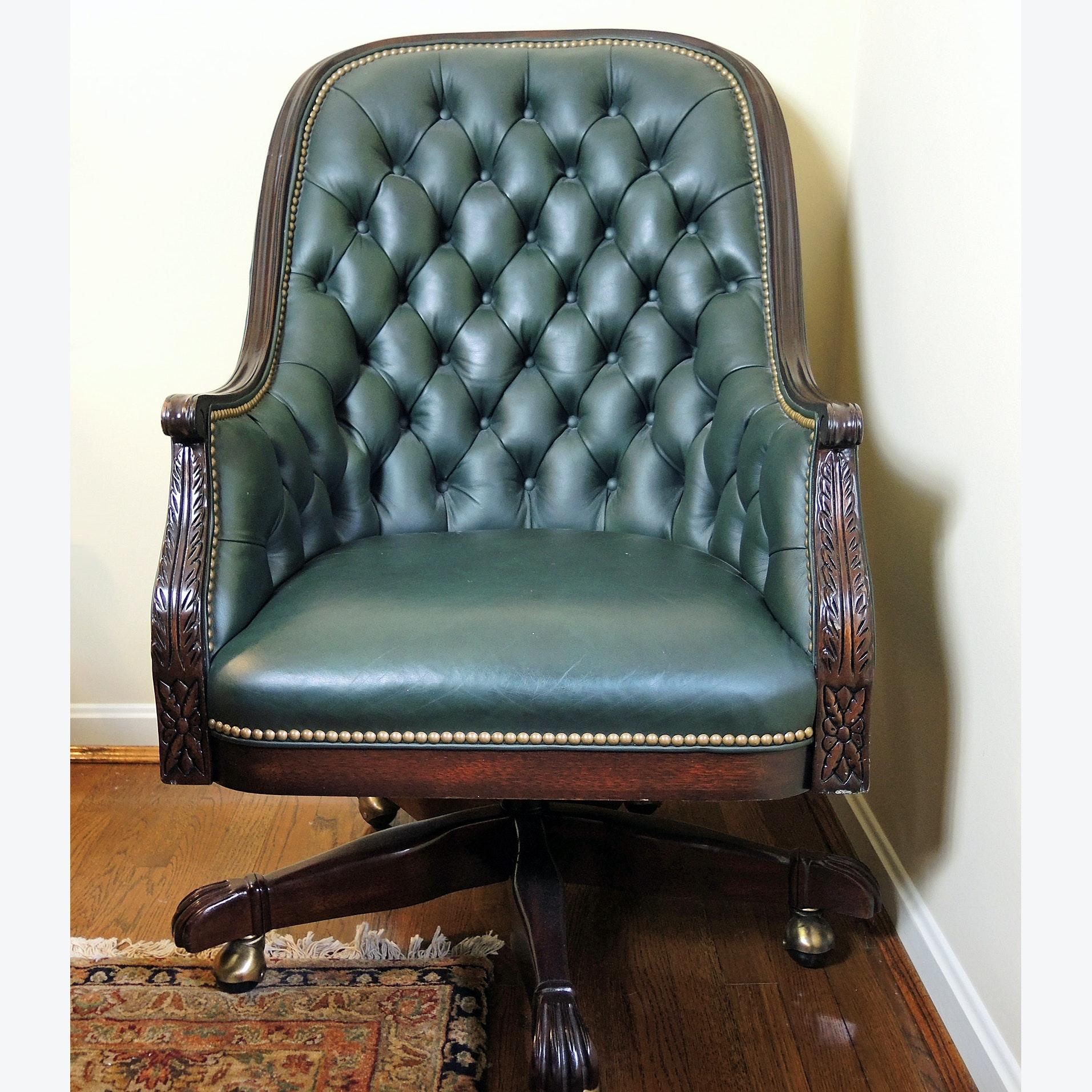 Nice Hancock U0026 Moore Tivoli Tufted Leather Office Chair