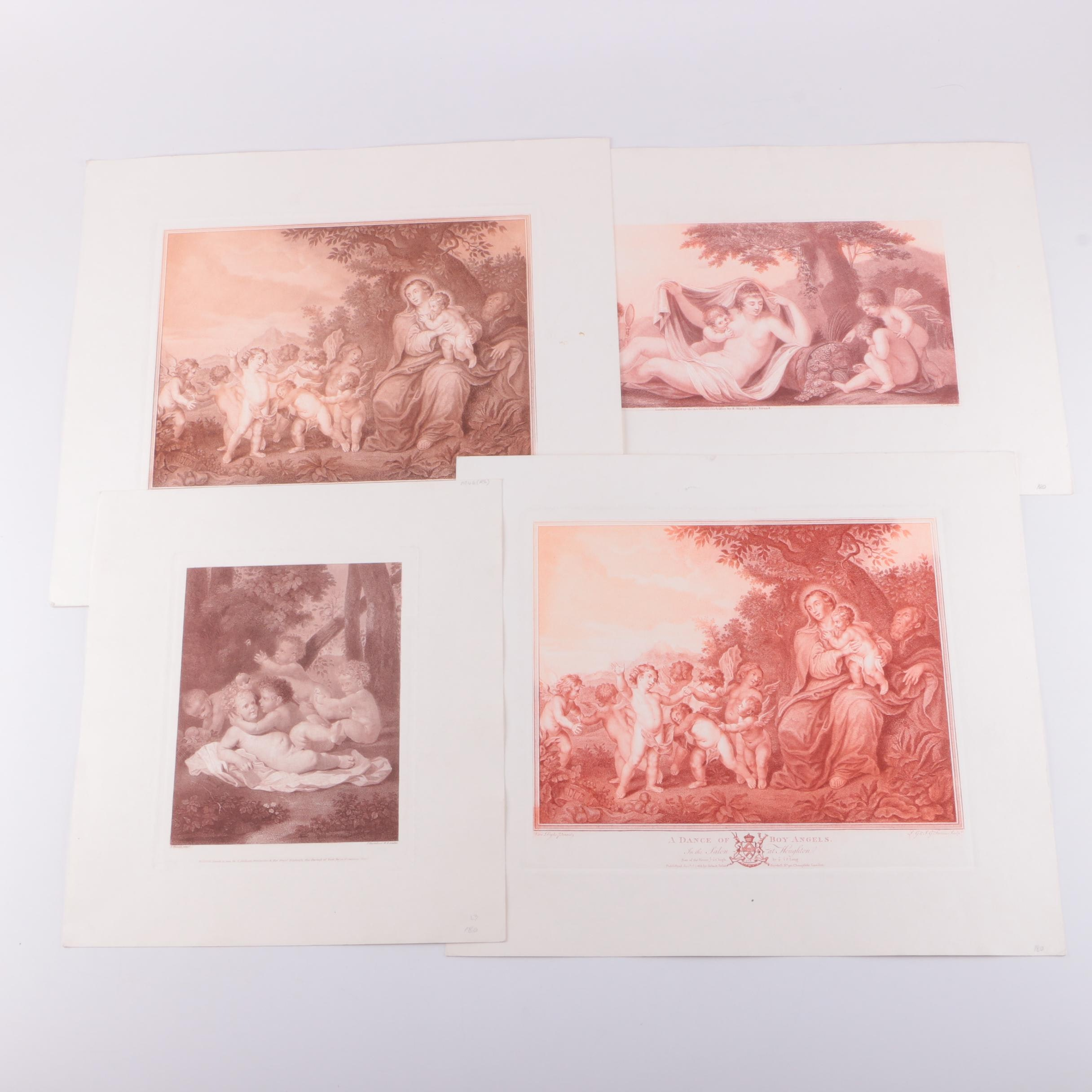 Hand-Colored Engravings After Classical Compositions