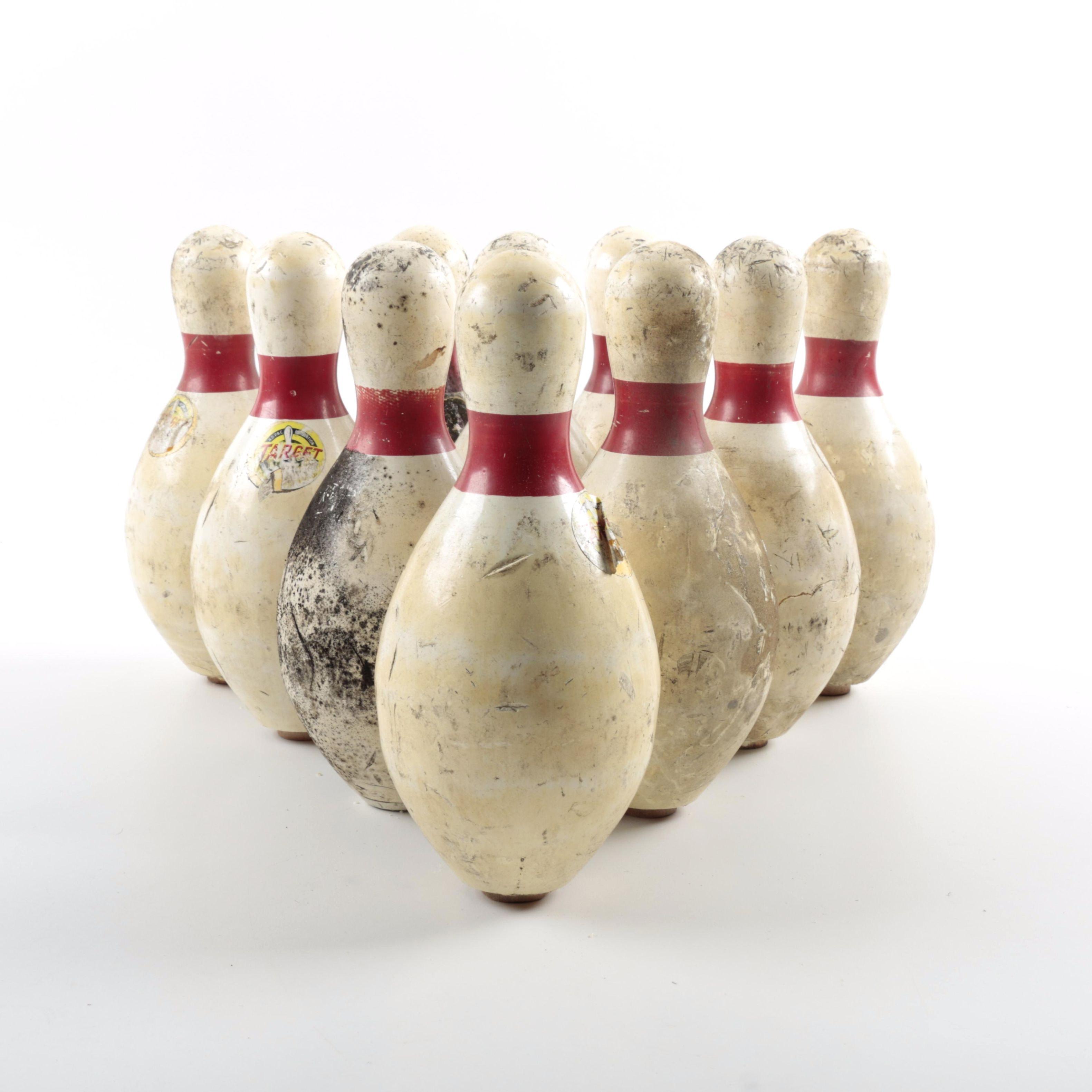 Vintage Duckpin Bowling Pins