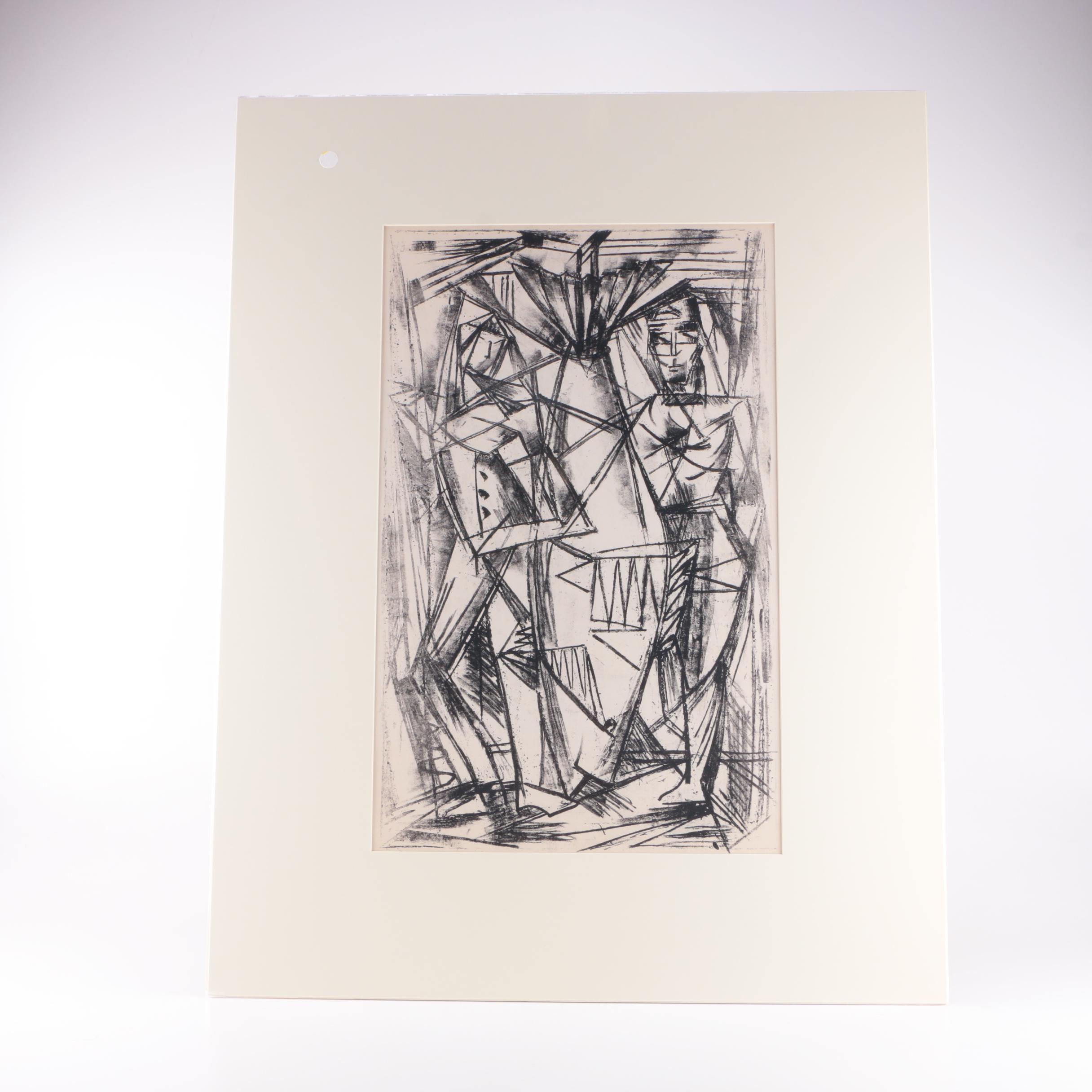 Arthur Helwig Original Lithograph on Paper