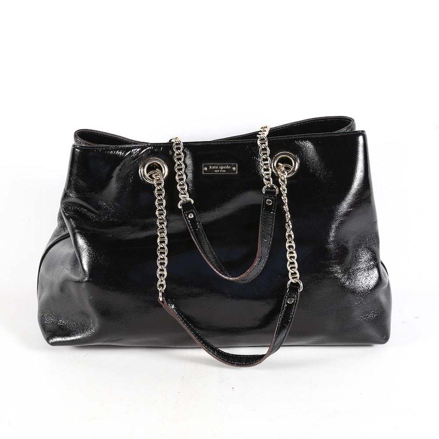 Kate Spade Antoinette Black Patent Leather Handbag