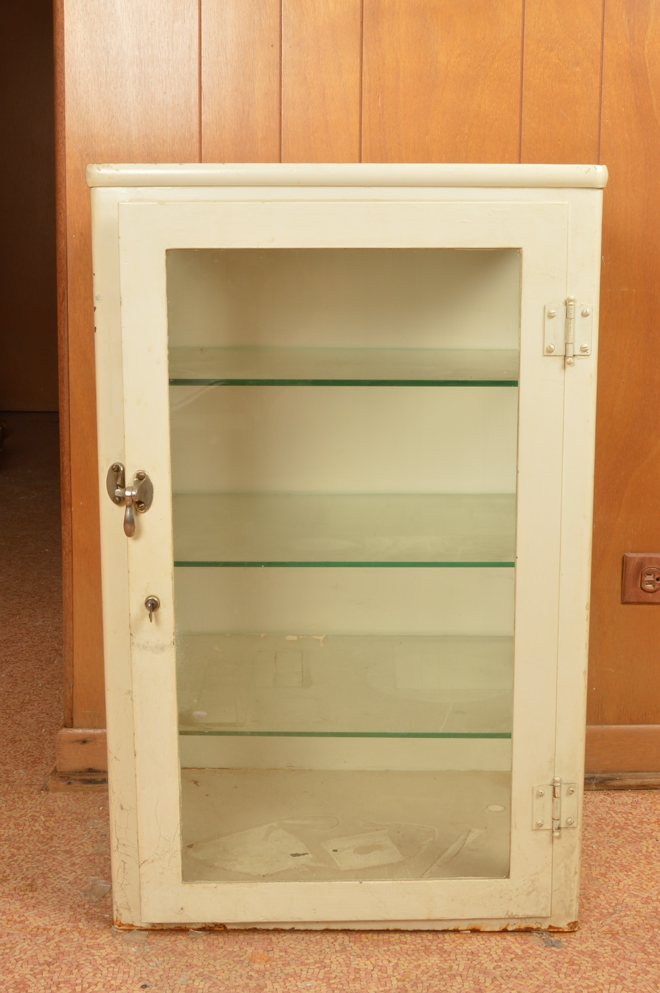 Off-White Wall Display Cabinet