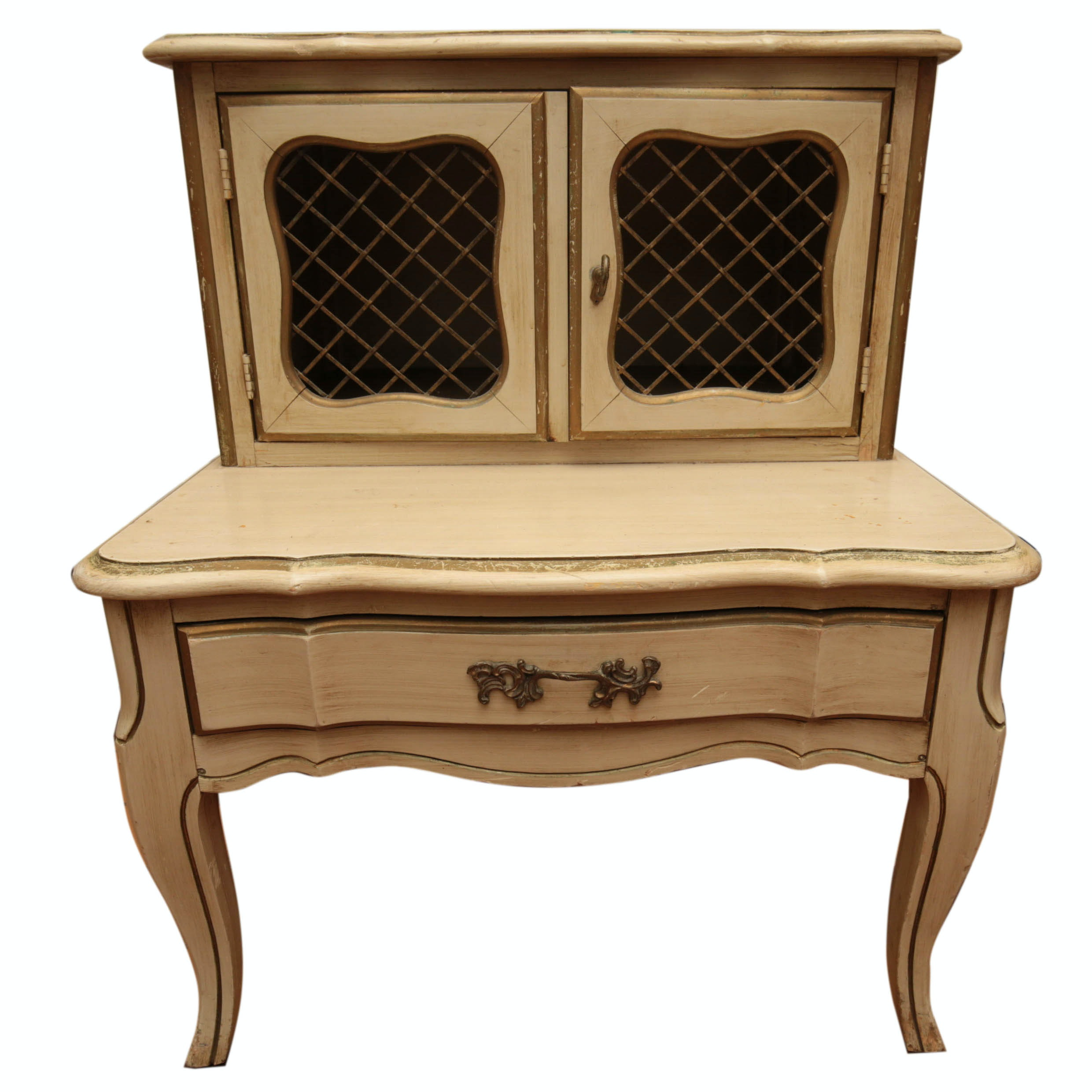 Vintage French Provincial Side Table By White Furniture ...