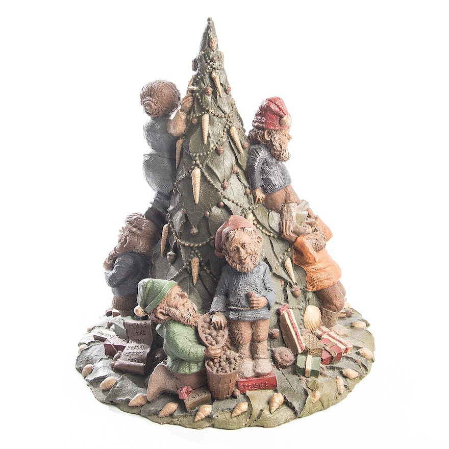 Quot twas the night before christmas tom clark gnome figurine