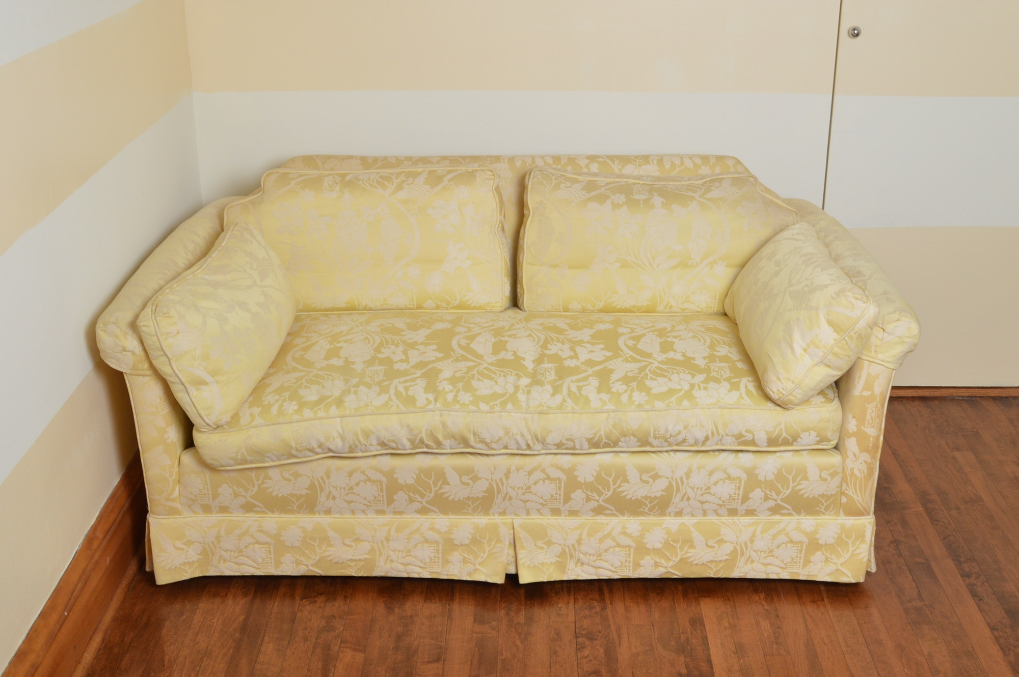 Pale Yellow Love Seat by Kindel