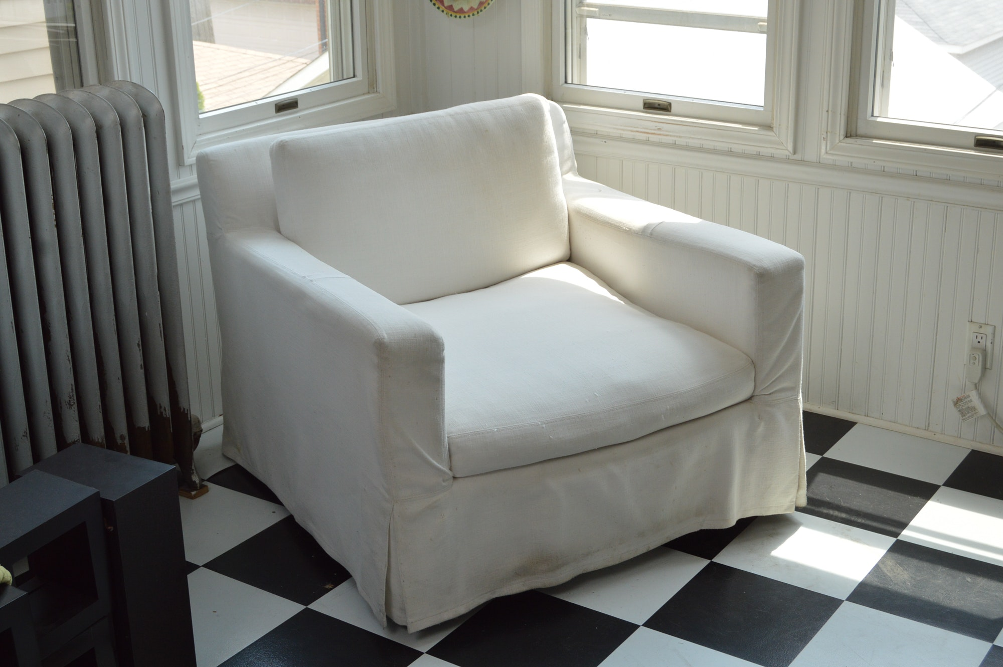"""Belgian Track Arm"" Swivel Chair by Restoration Hardware"
