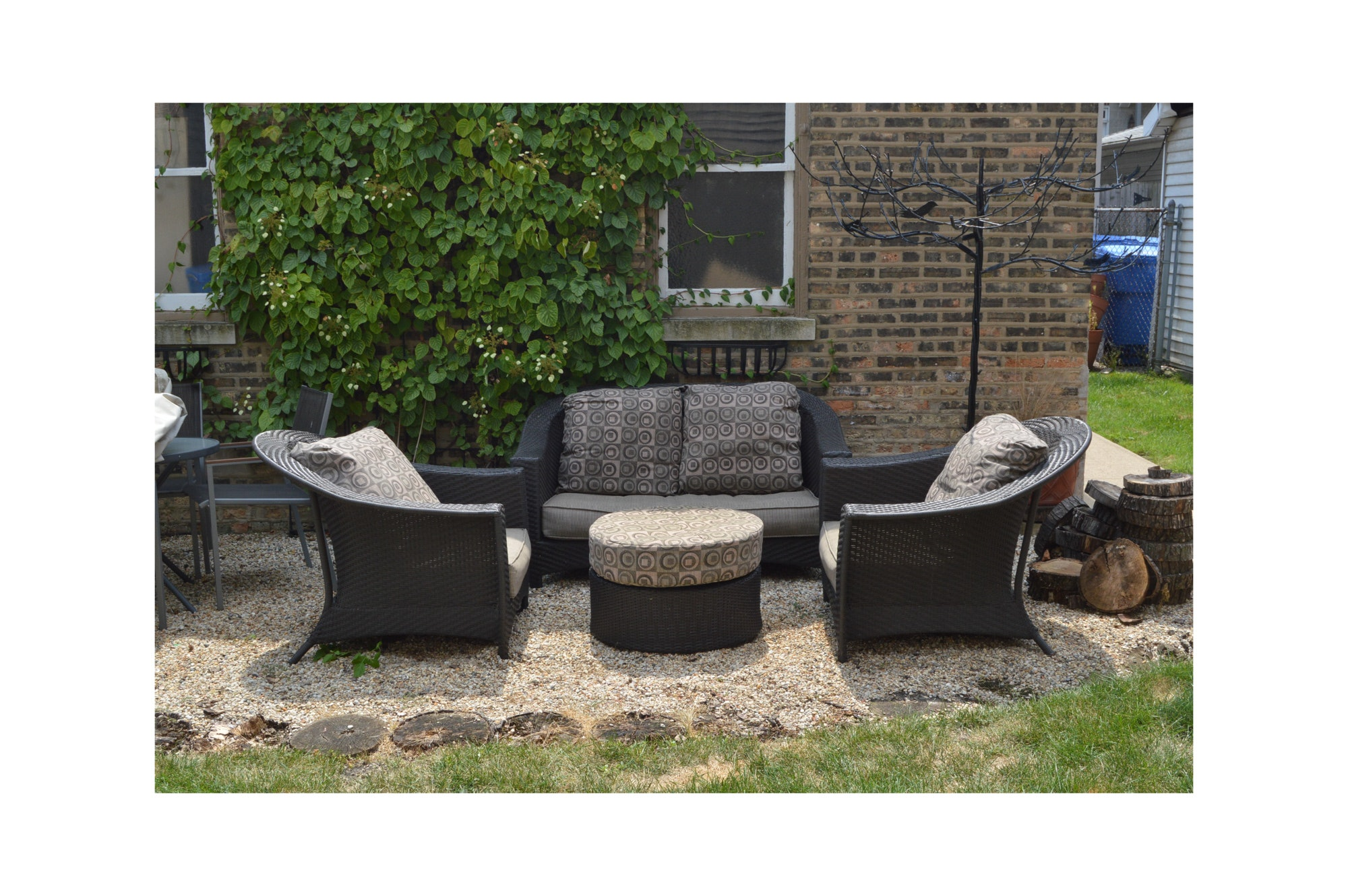 Resin Wicker Four Piece Seating Set