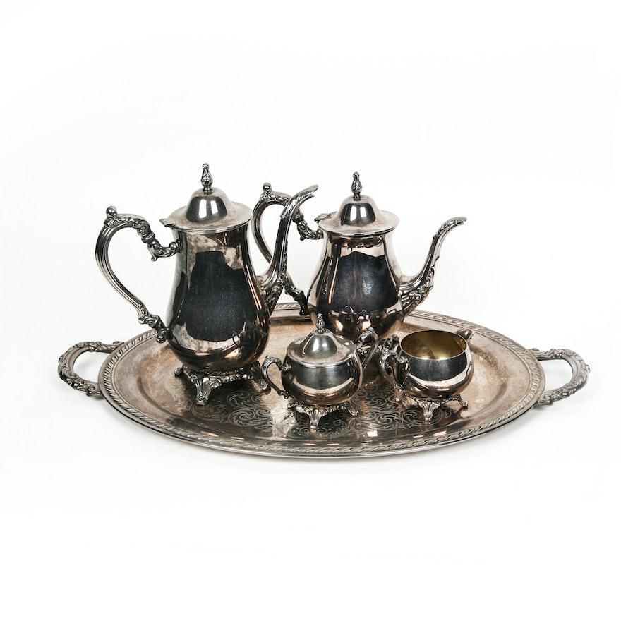 Oneida Silver Plate Coffee and Tea Service : EBTH