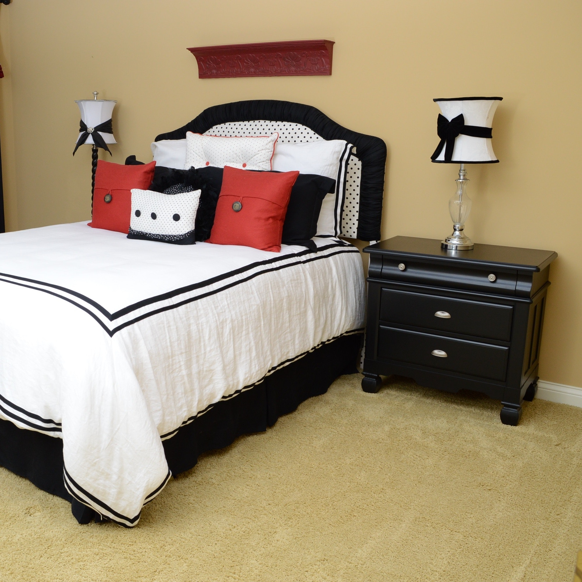 Queen Size Bed Room Collection with Ethan Allen Linen Duvet
