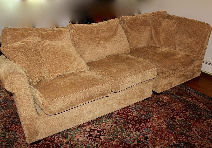 Arhaus camden four piece sectional sofa with chaise for 4 piece sectional sofa with chaise