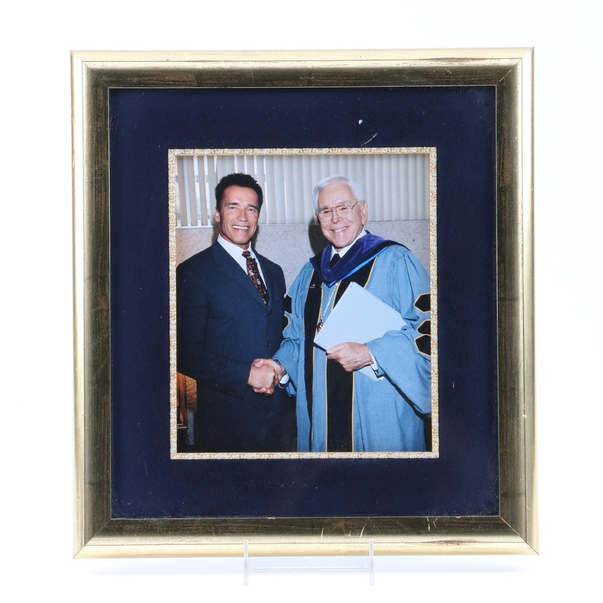 Color Photographic Print of Arnold Schwarzenegger and Robert Schuller